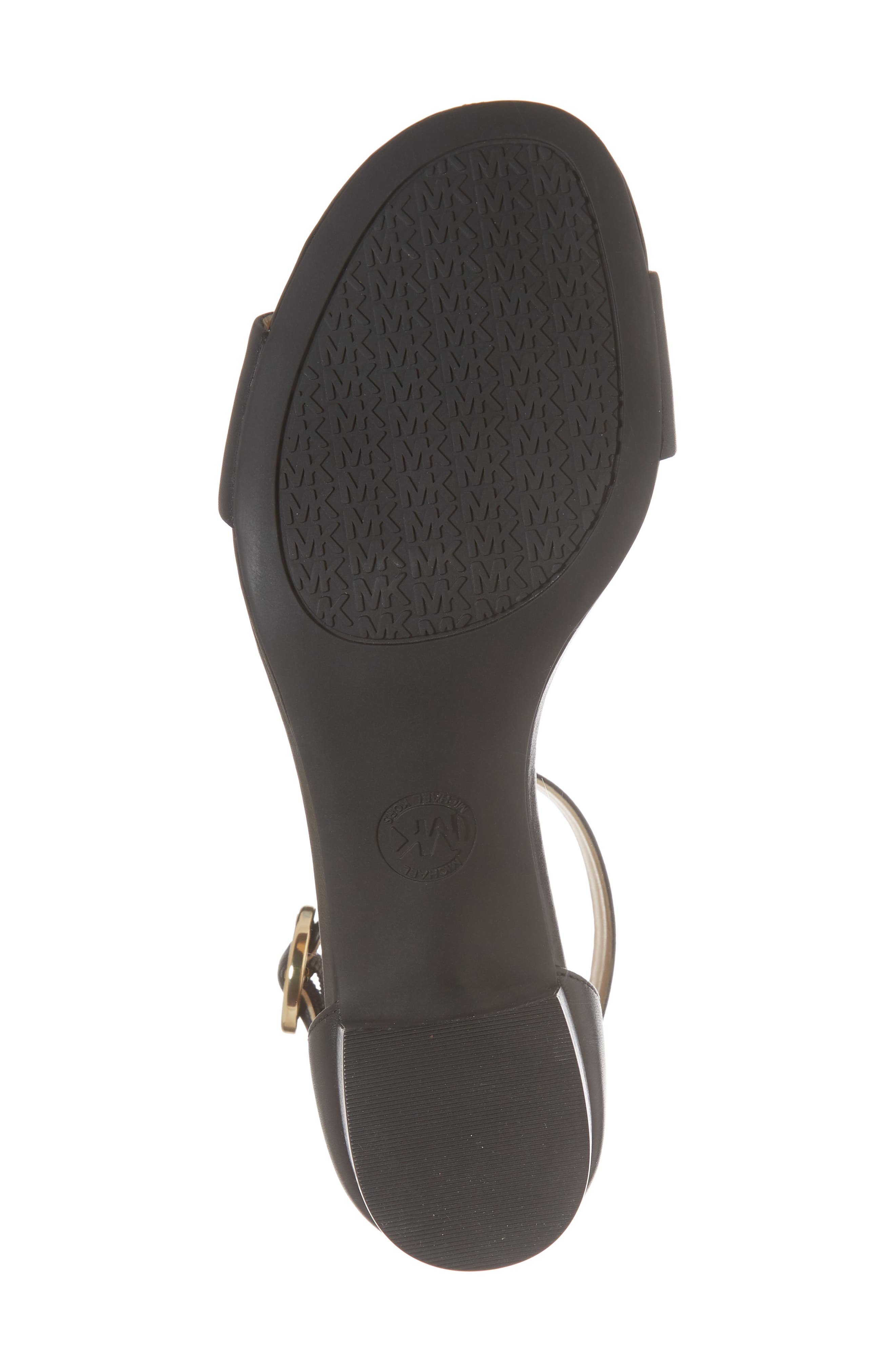 Lena Block Heel Sandal,                             Alternate thumbnail 6, color,                             BLACK