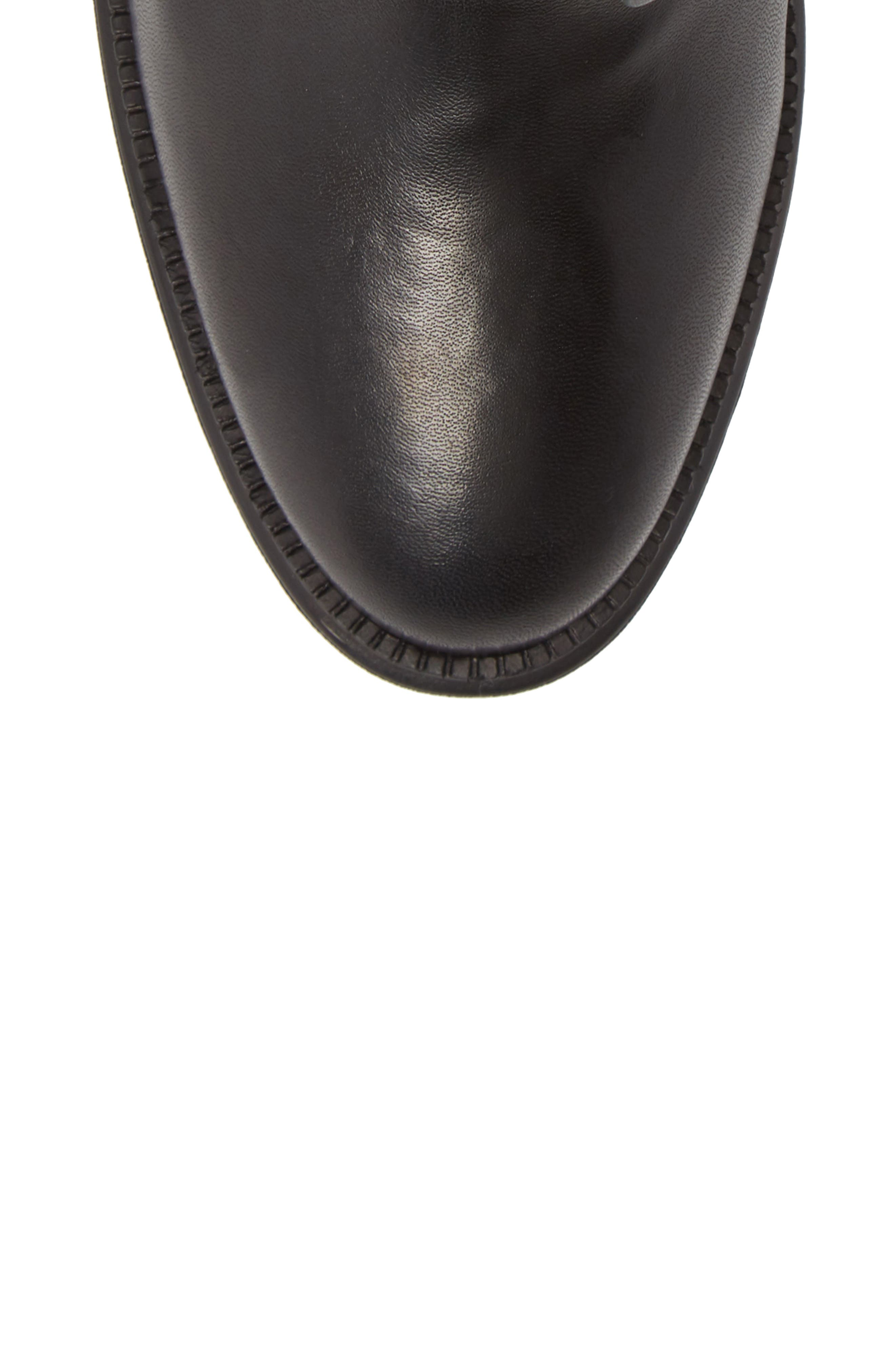 Caliana Water Resistant Genuine Shearling Lined Boot,                             Alternate thumbnail 5, color,                             BLACK NAPPA