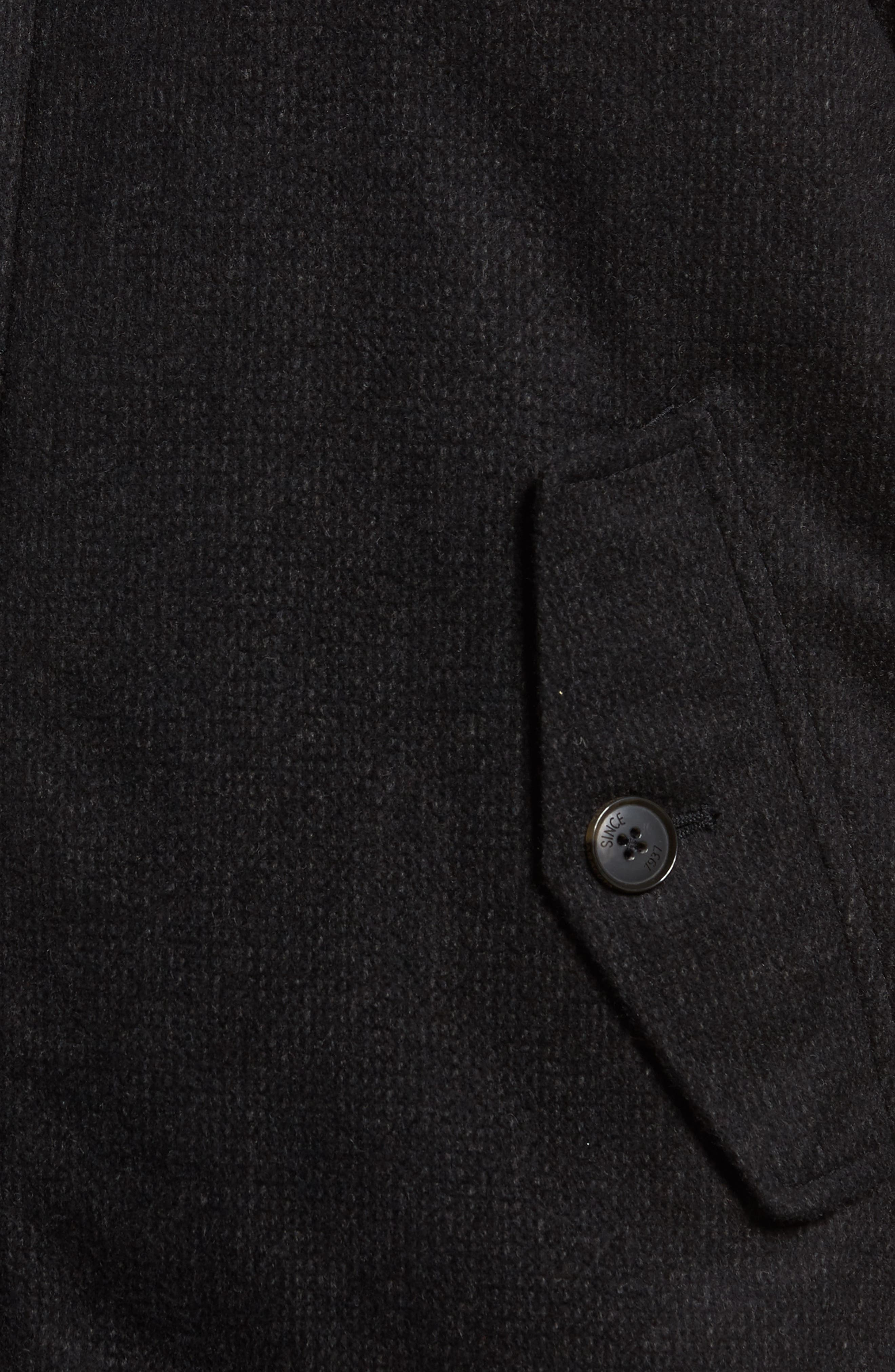 G9 Waterproof Wool Blend Harrington Jacket,                             Alternate thumbnail 6, color,                             020