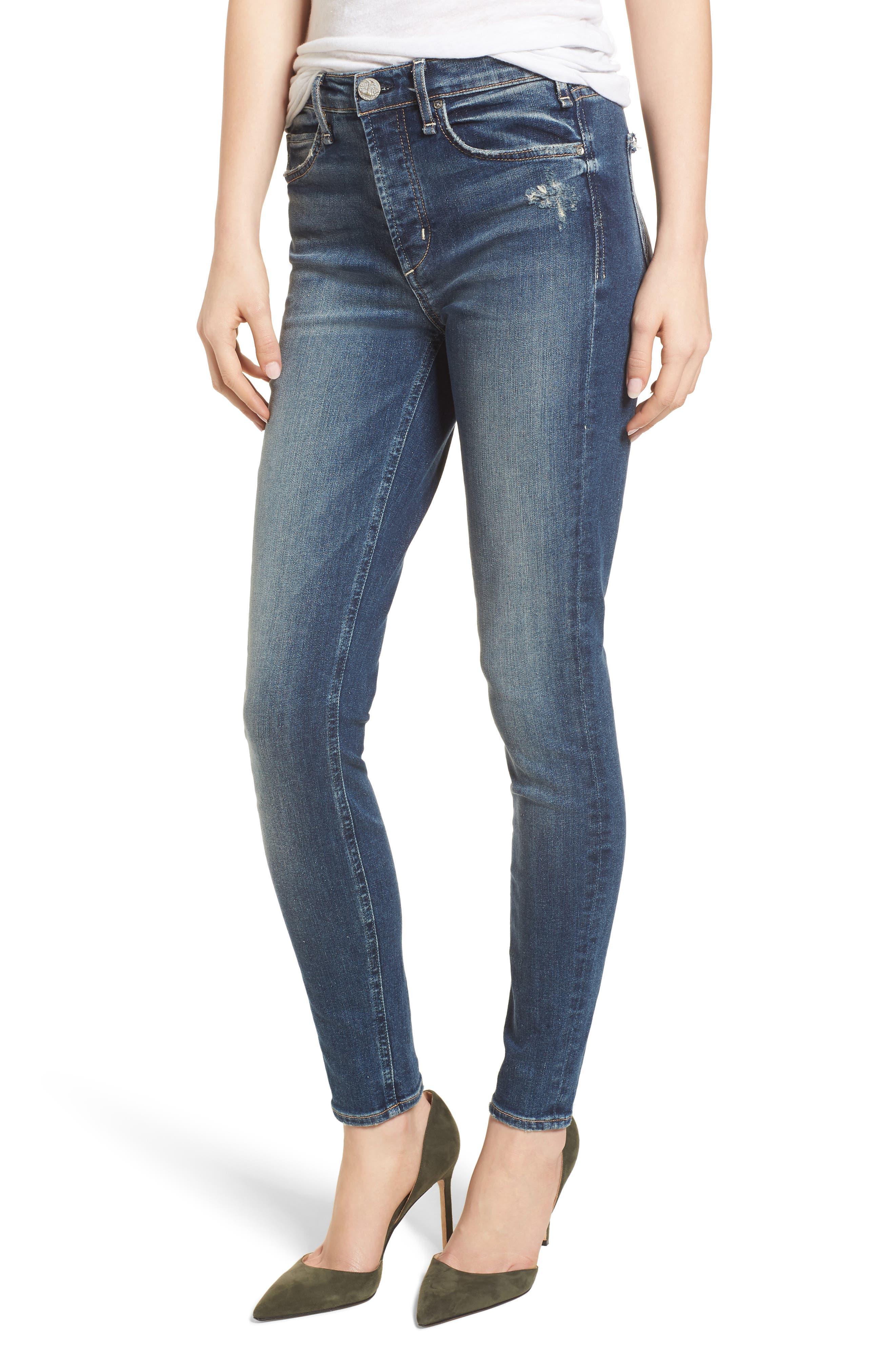 Newton High Rise Skinny Jeans,                             Main thumbnail 1, color,                             420