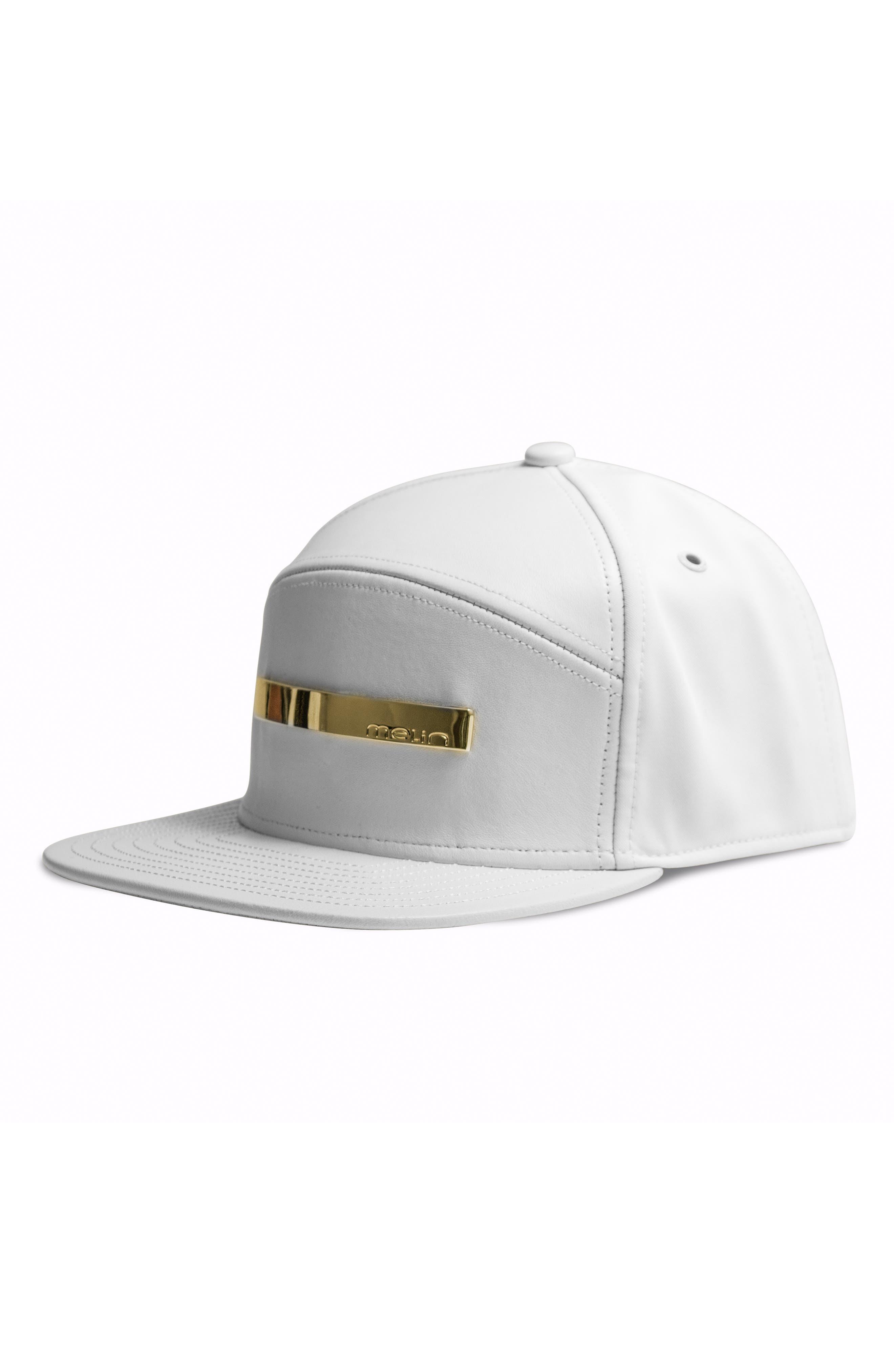 MELIN The Bar Baseball Cap - White in White Gold