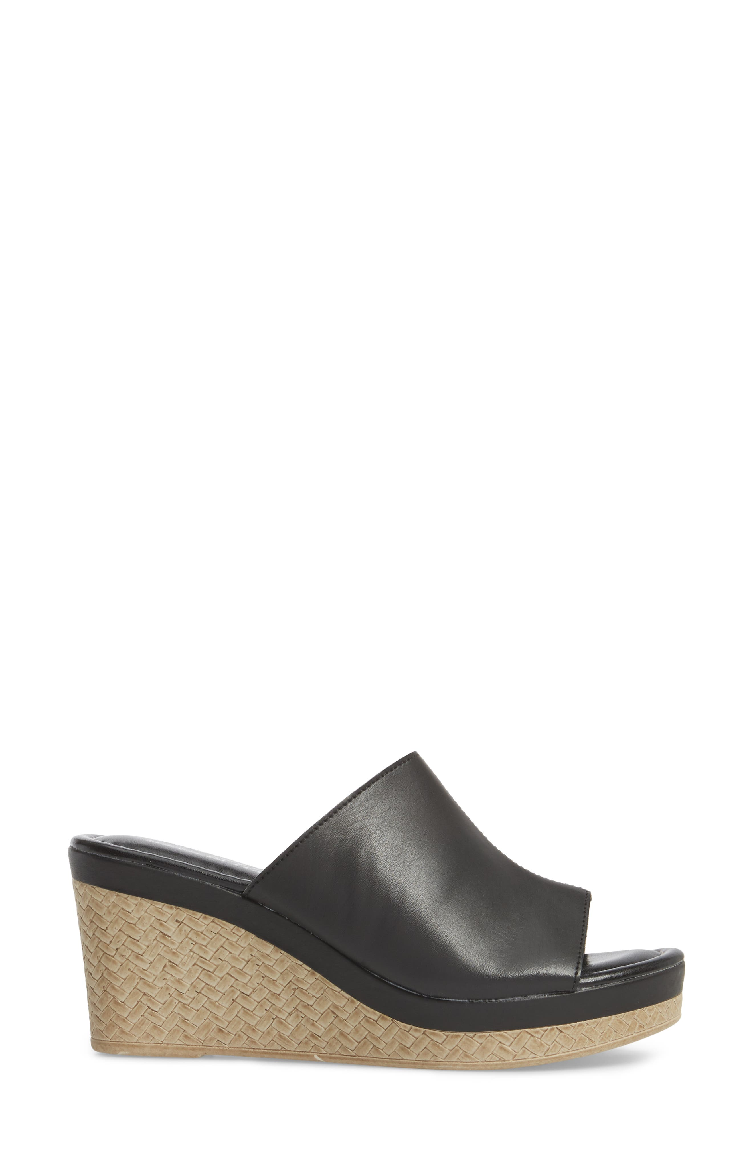 TUSCANY BY EASY STREET<SUP>®</SUP>,                             Octavia Espadrille Wedge,                             Alternate thumbnail 3, color,                             001