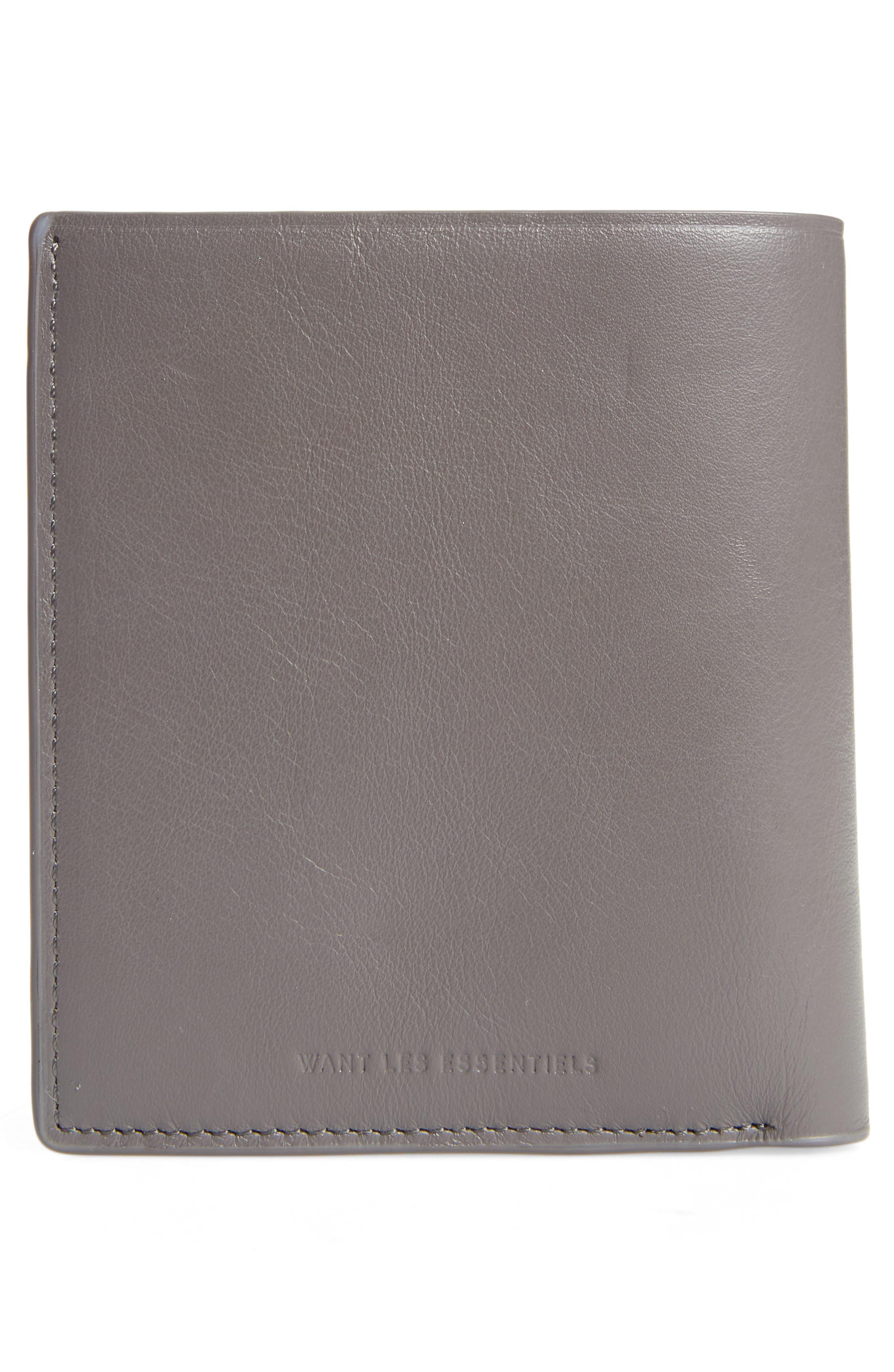 Bradley Bifold Leather Wallet,                             Alternate thumbnail 3, color,                             032
