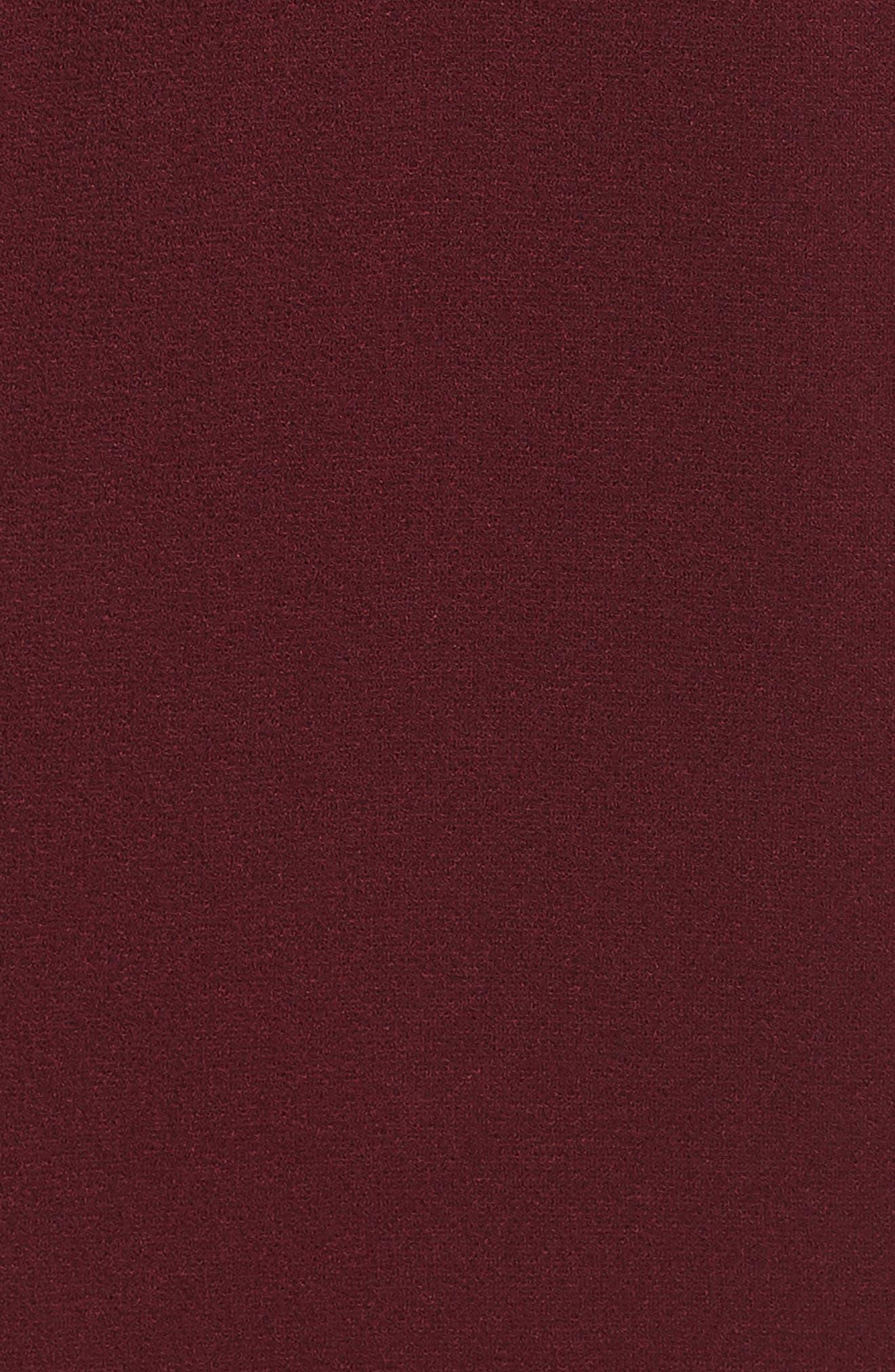 The Casey Plunge Neck Gown,                             Alternate thumbnail 7, color,                             CABERNET