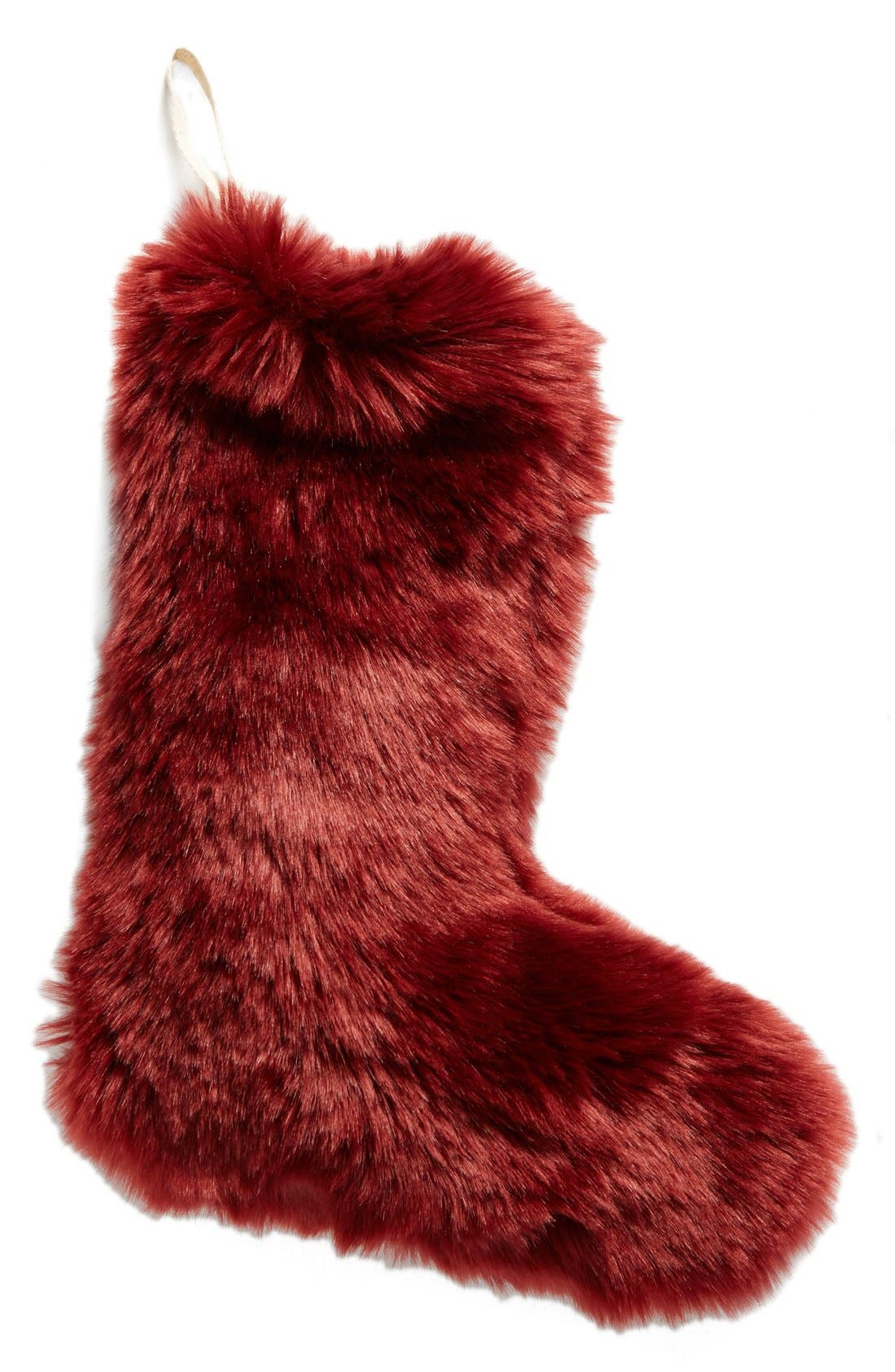 'Cuddle Up' Faux Fur Christmas Stocking,                             Main thumbnail 2, color,