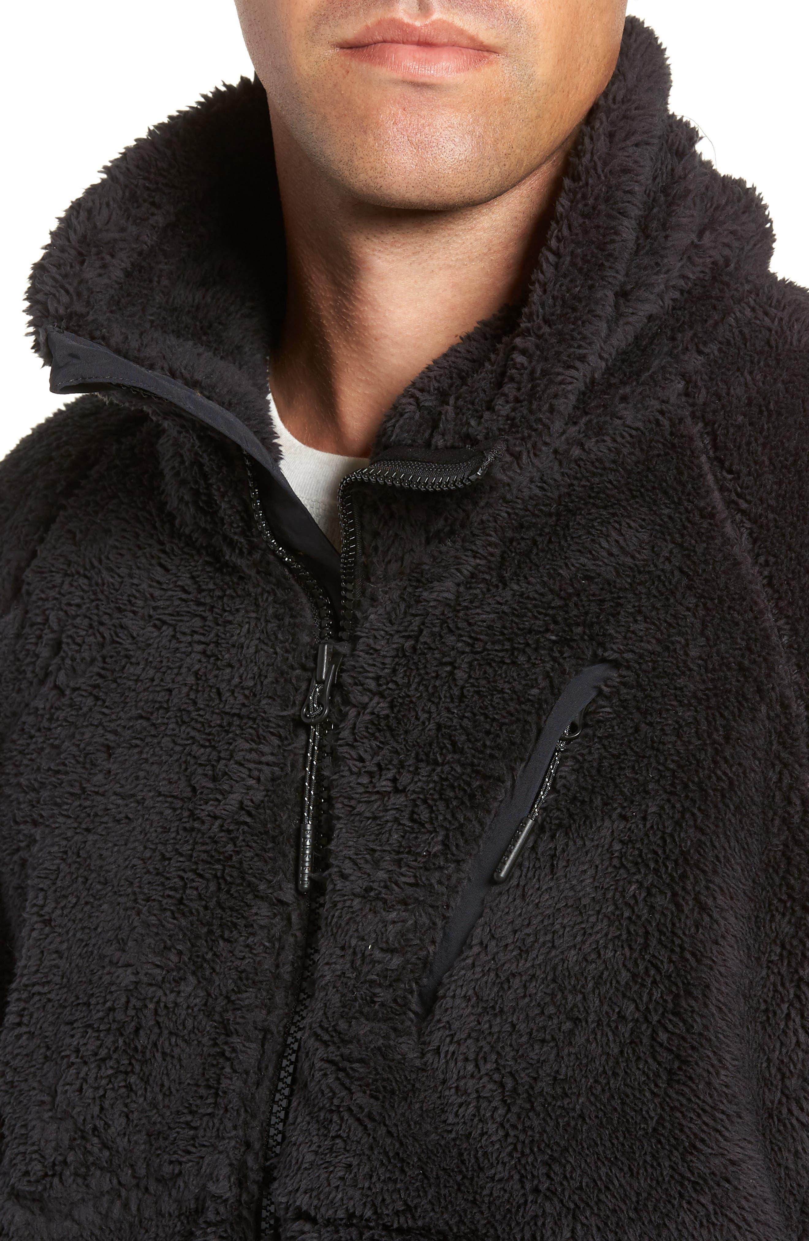 Breakheart Zip Fleece Jacket,                             Alternate thumbnail 4, color,                             001
