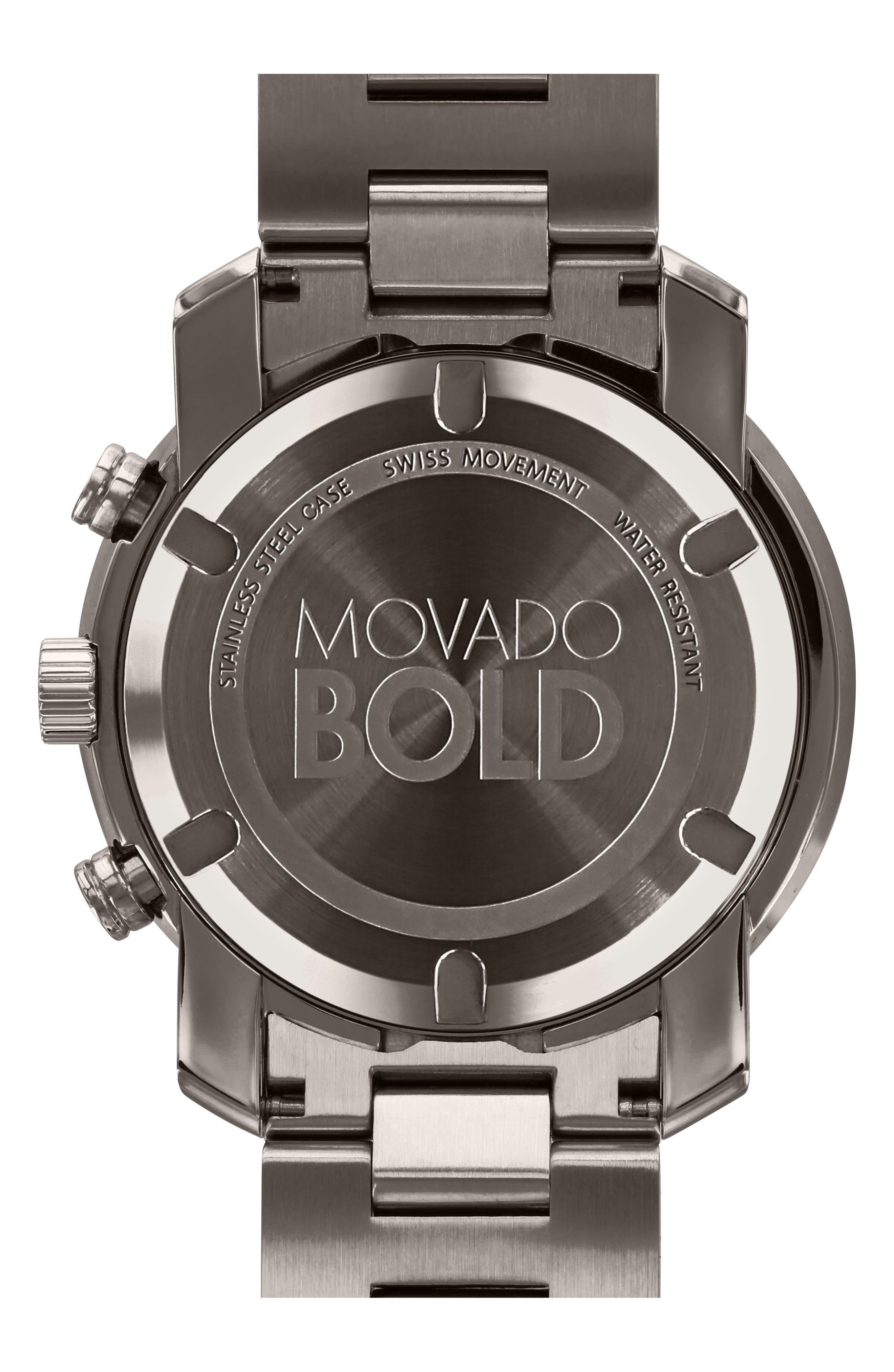 Bold Chronograph Bracelet Watch, 44mm,                             Alternate thumbnail 2, color,                             001