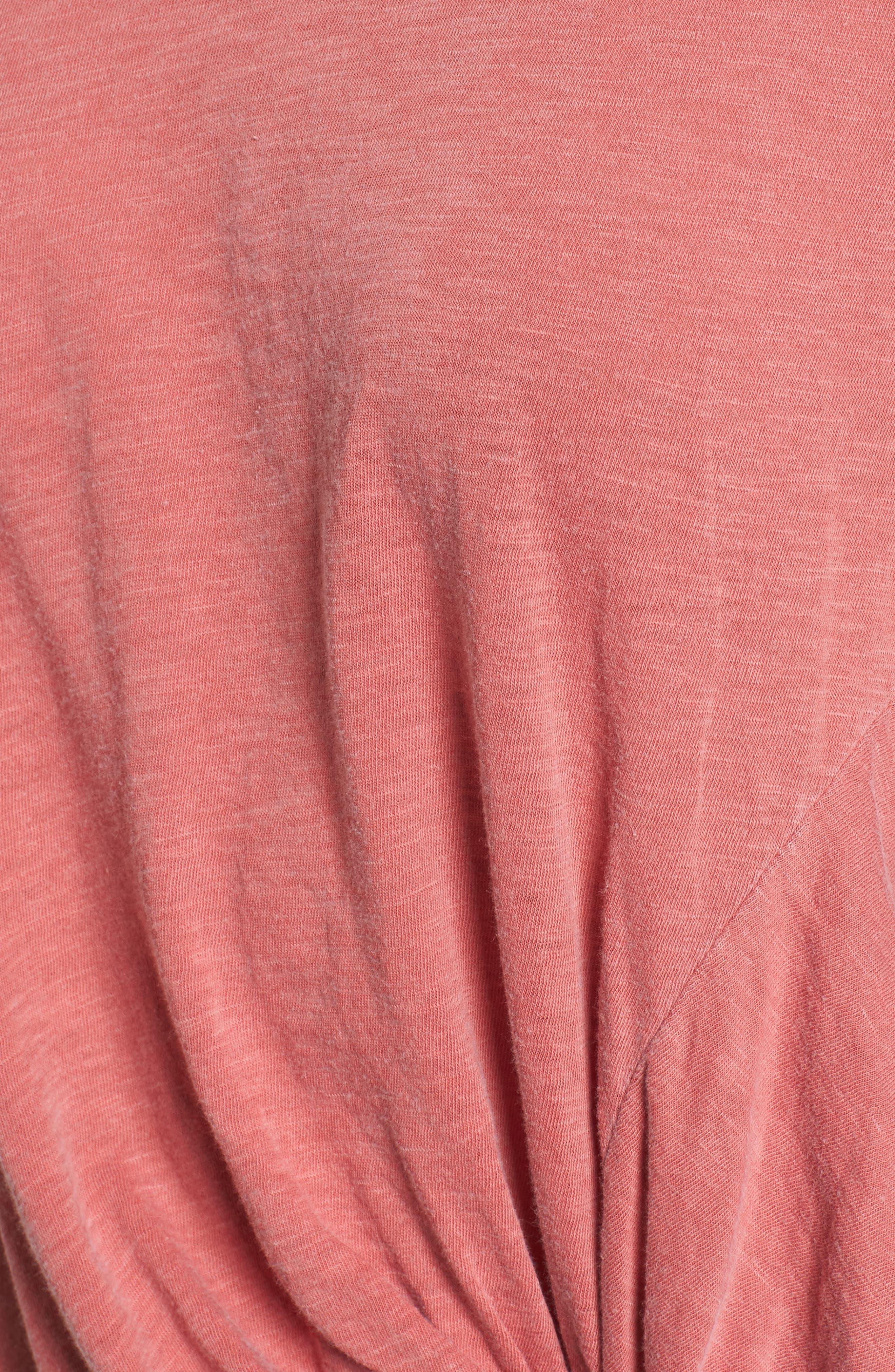 Knot Detail Slub Knit Tee,                             Alternate thumbnail 53, color,