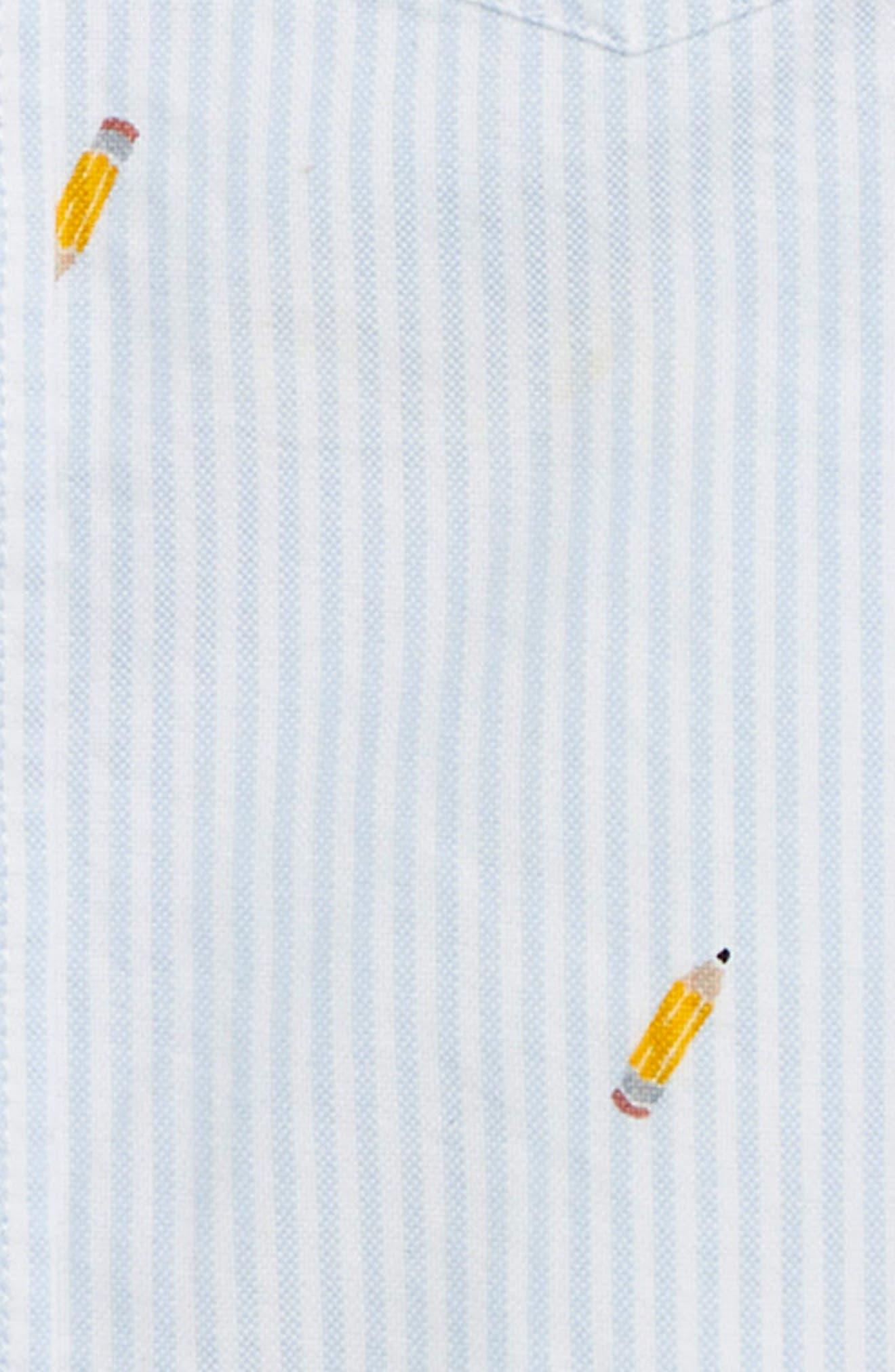 Critter Oxford Shirt,                             Alternate thumbnail 2, color,                             BLUE MULTI
