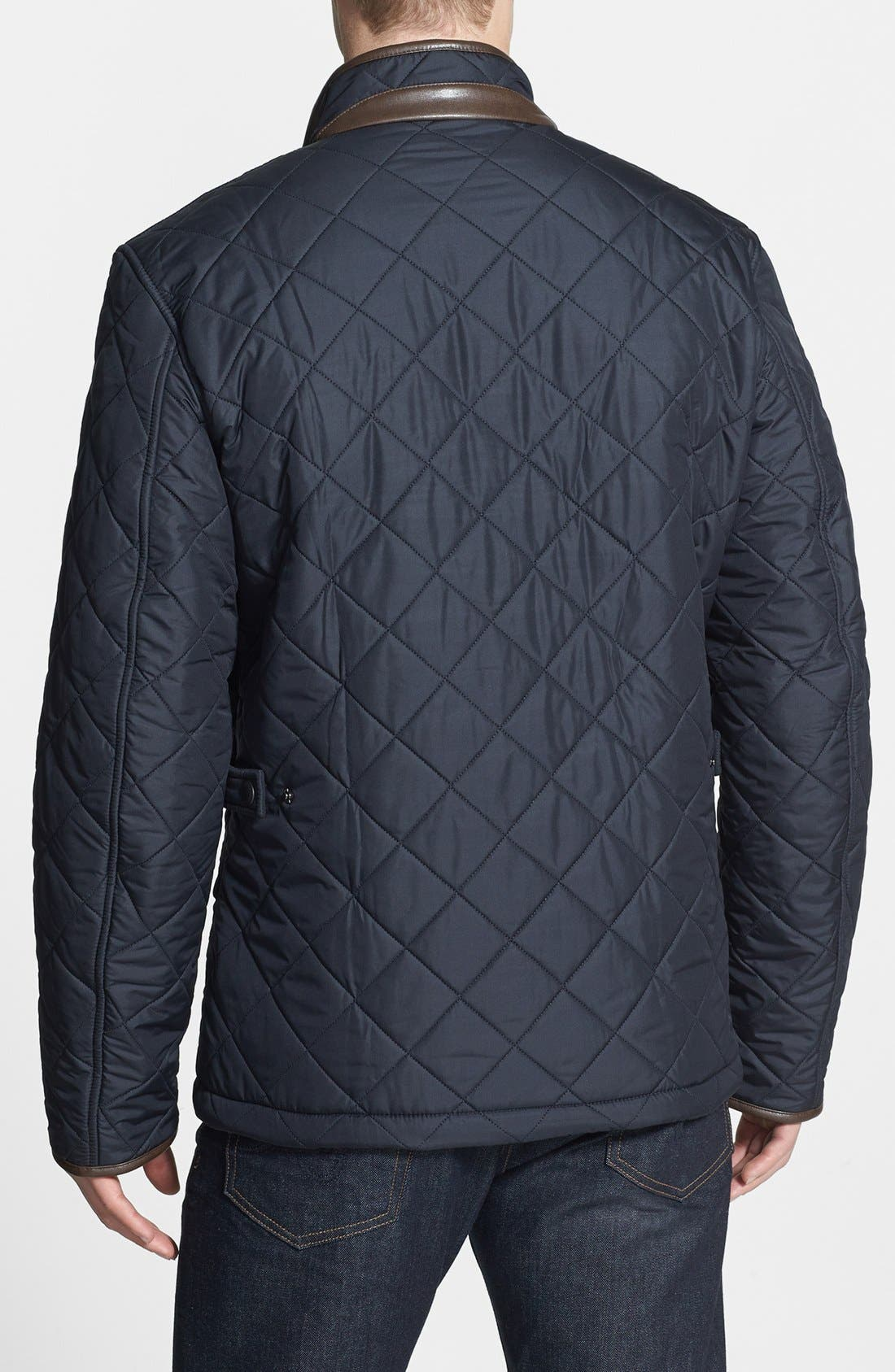 'Powell' Quilted Jacket,                             Alternate thumbnail 2, color,                             NAVY