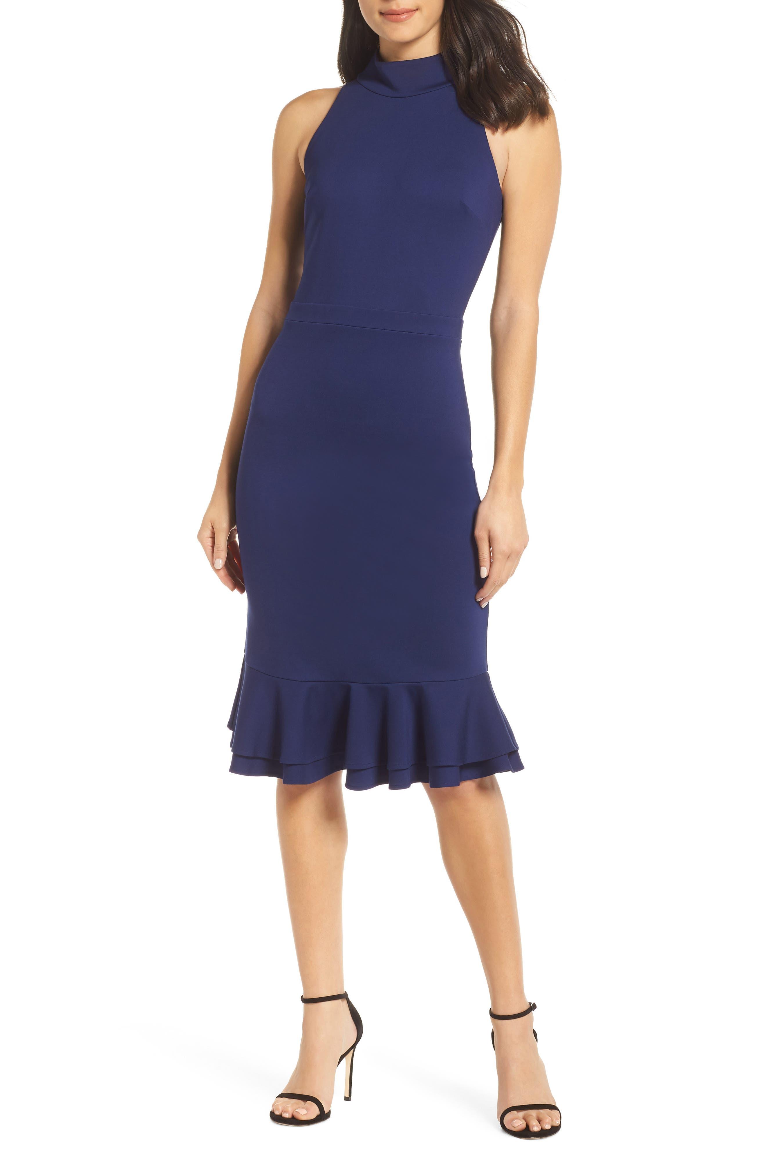 ALI & JAY The Boss Sheath Dress in Blue Violet