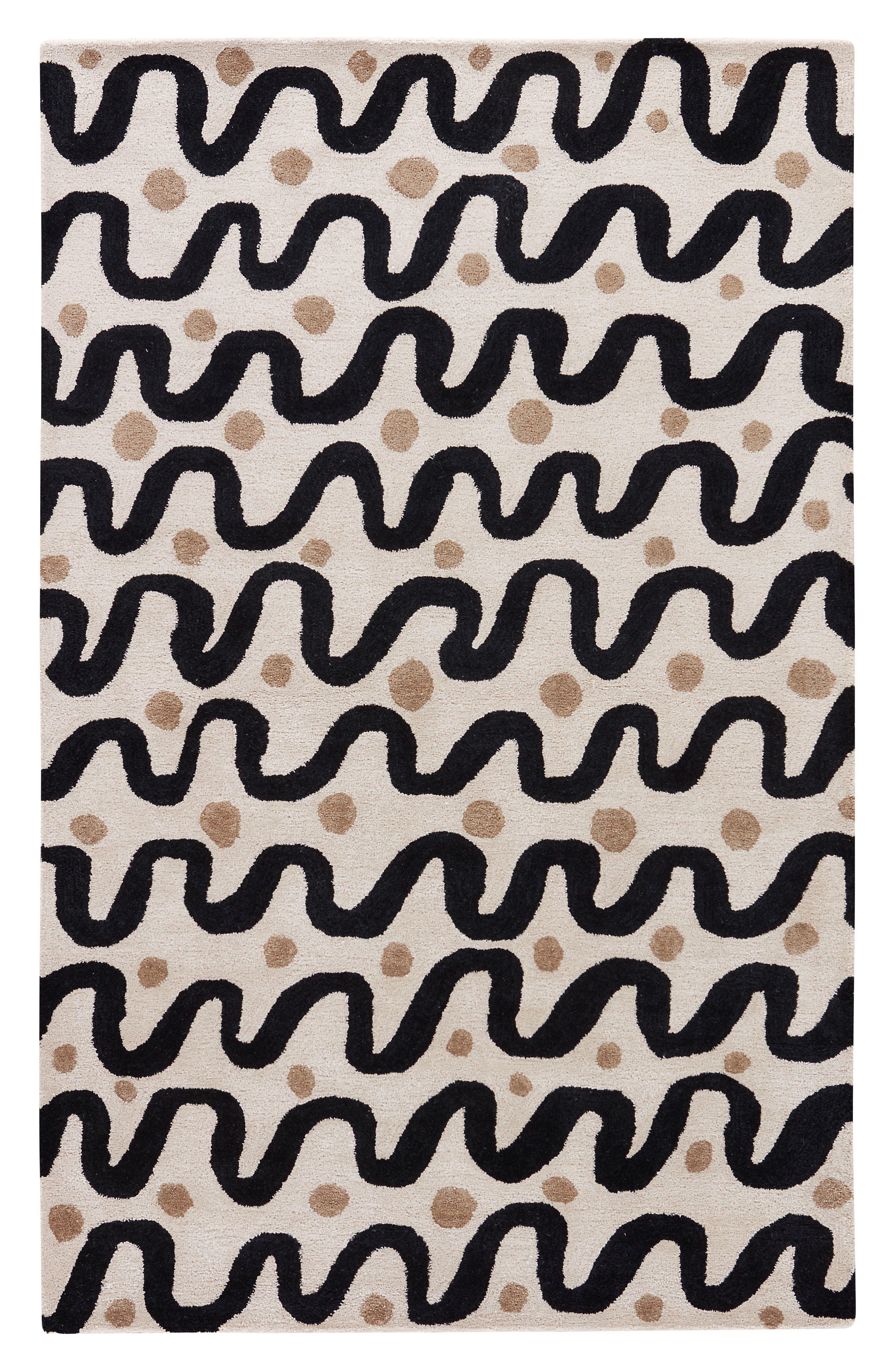 contemporary waves rug,                         Main,                         color, 250