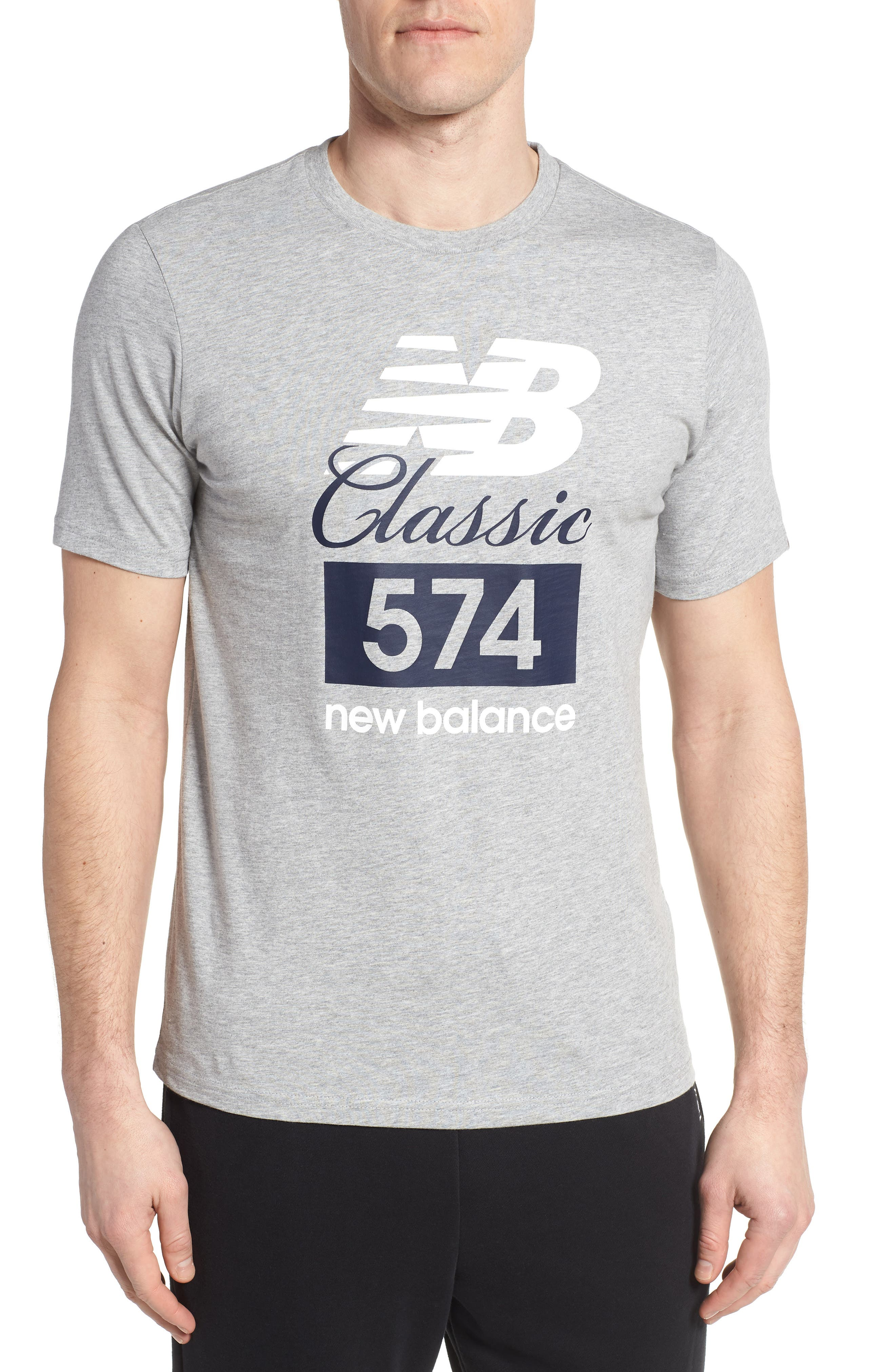 Athletics Classic 574 Crewneck T-Shirt,                             Main thumbnail 1, color,                             053
