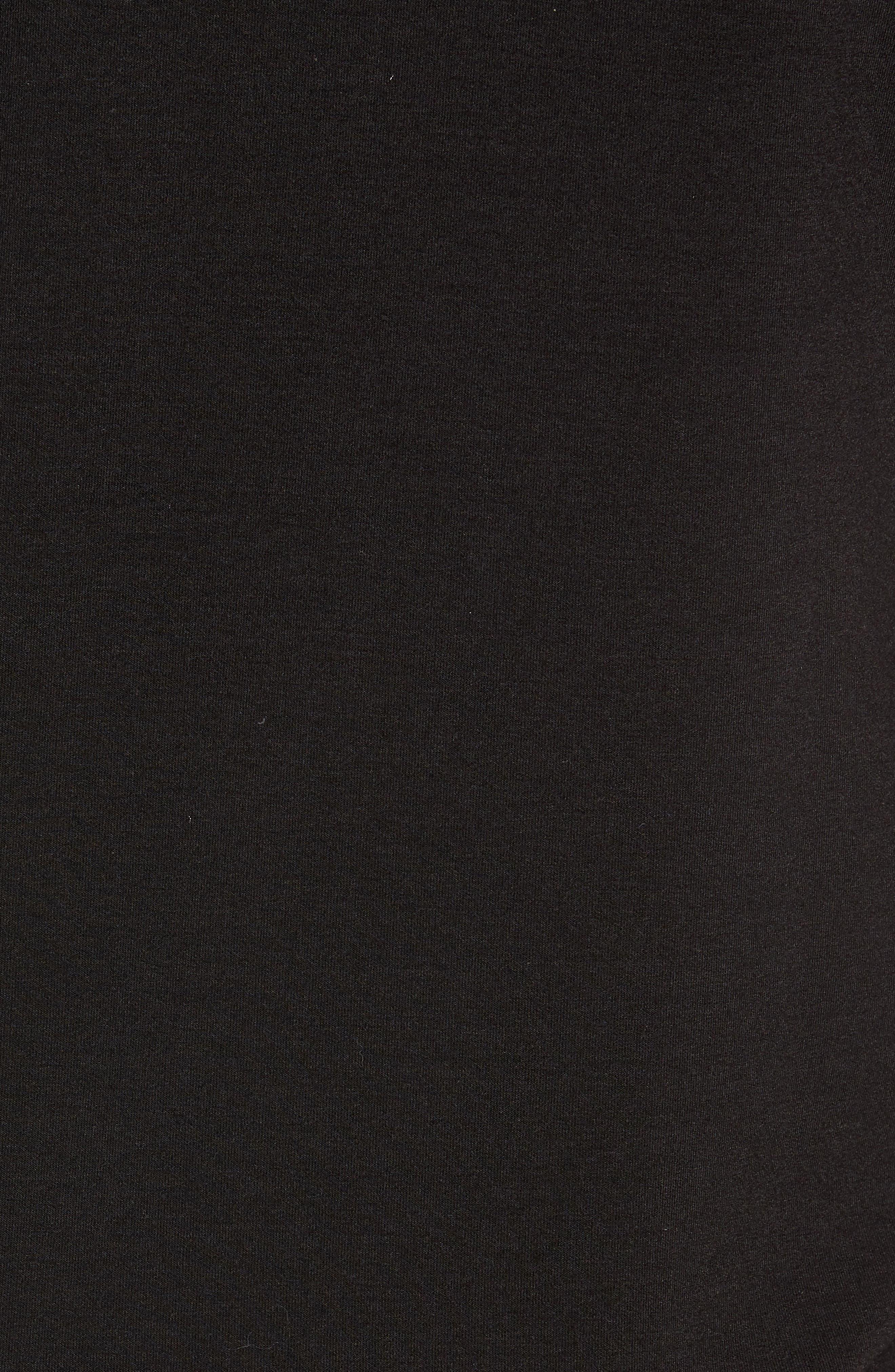 Peper Trim Fit Half Zip Pullover,                             Alternate thumbnail 5, color,                             001