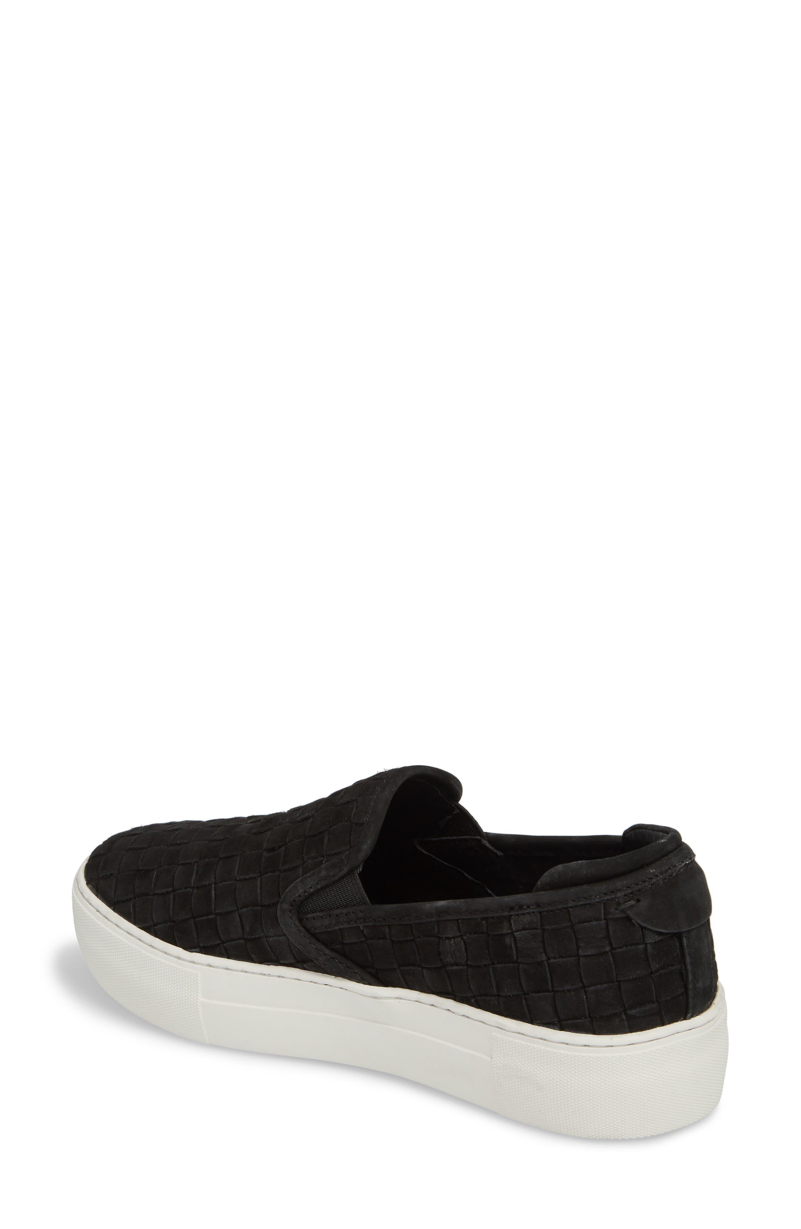 Proper Slip-On Sneaker,                             Alternate thumbnail 2, color,                             BLACK NUBUCK