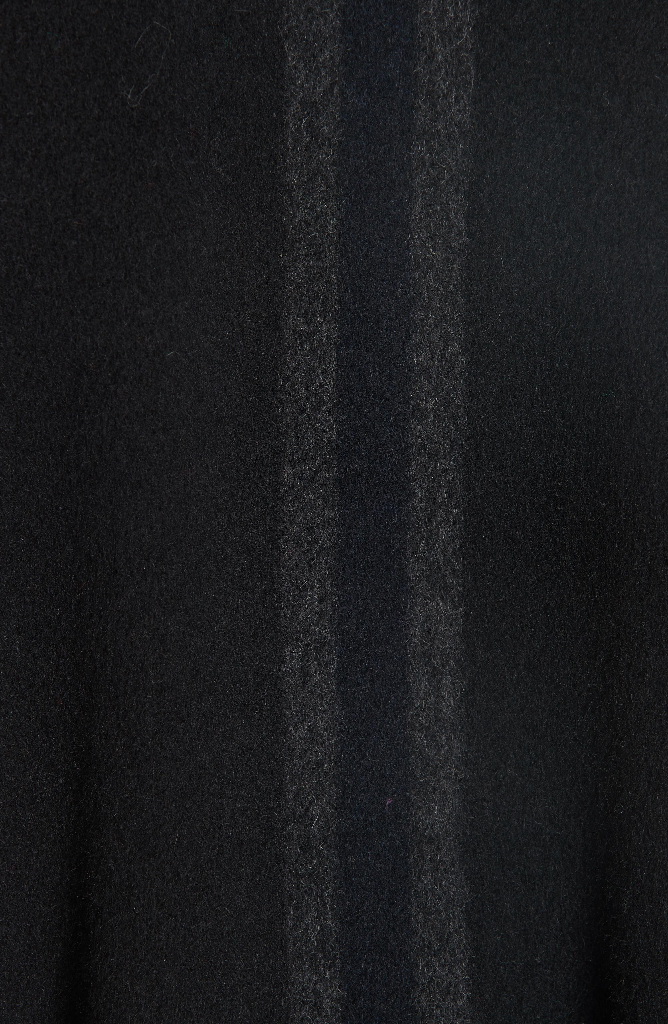 Stripe Blanket Coat,                             Alternate thumbnail 7, color,                             ONYX