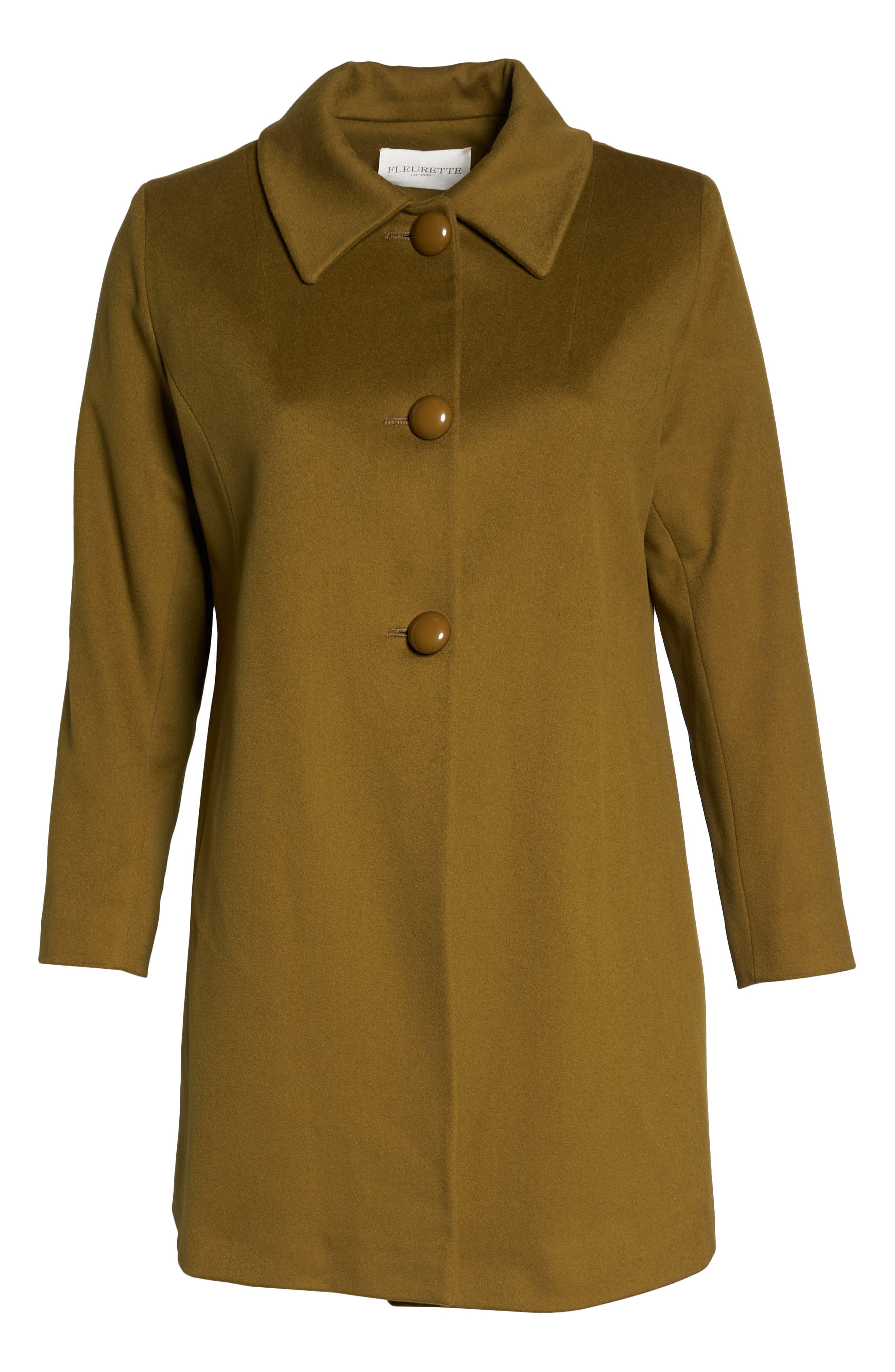 FLEURETTE,                             Loro Piana Wool Car Coat,                             Alternate thumbnail 6, color,                             305