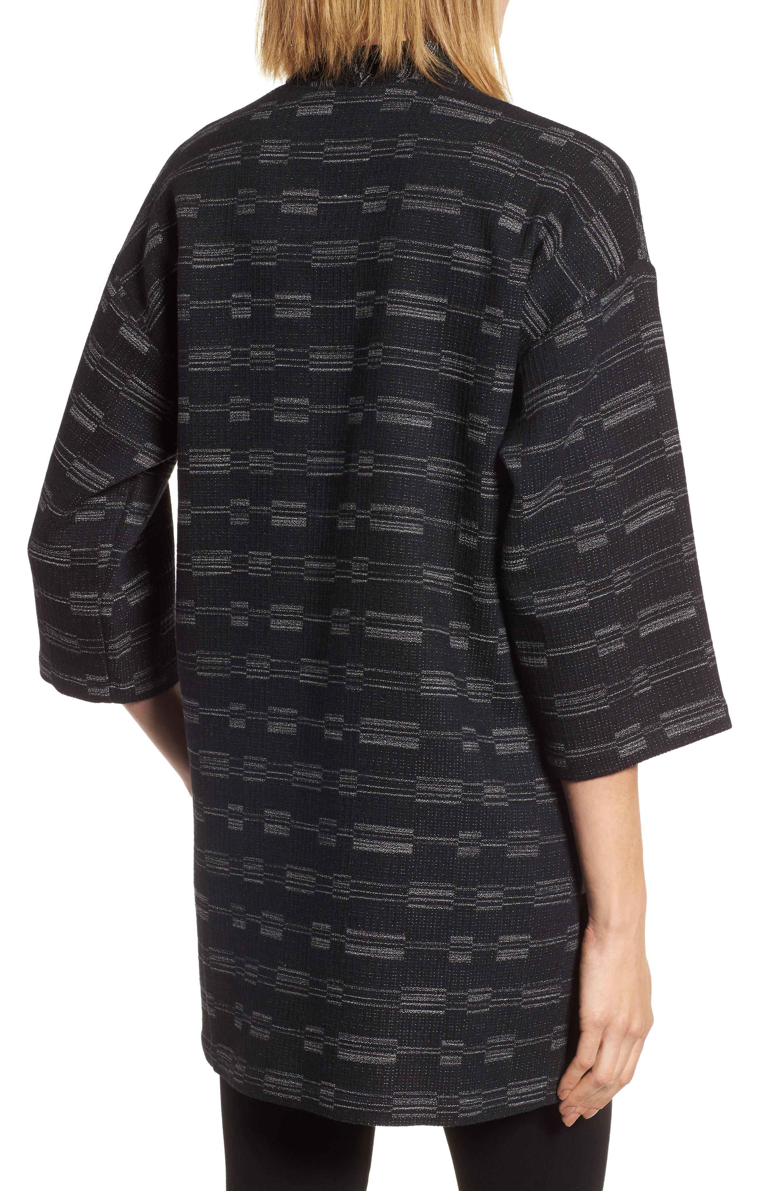 Organic Cotton Blend Tweed Jacket,                             Alternate thumbnail 2, color,                             001