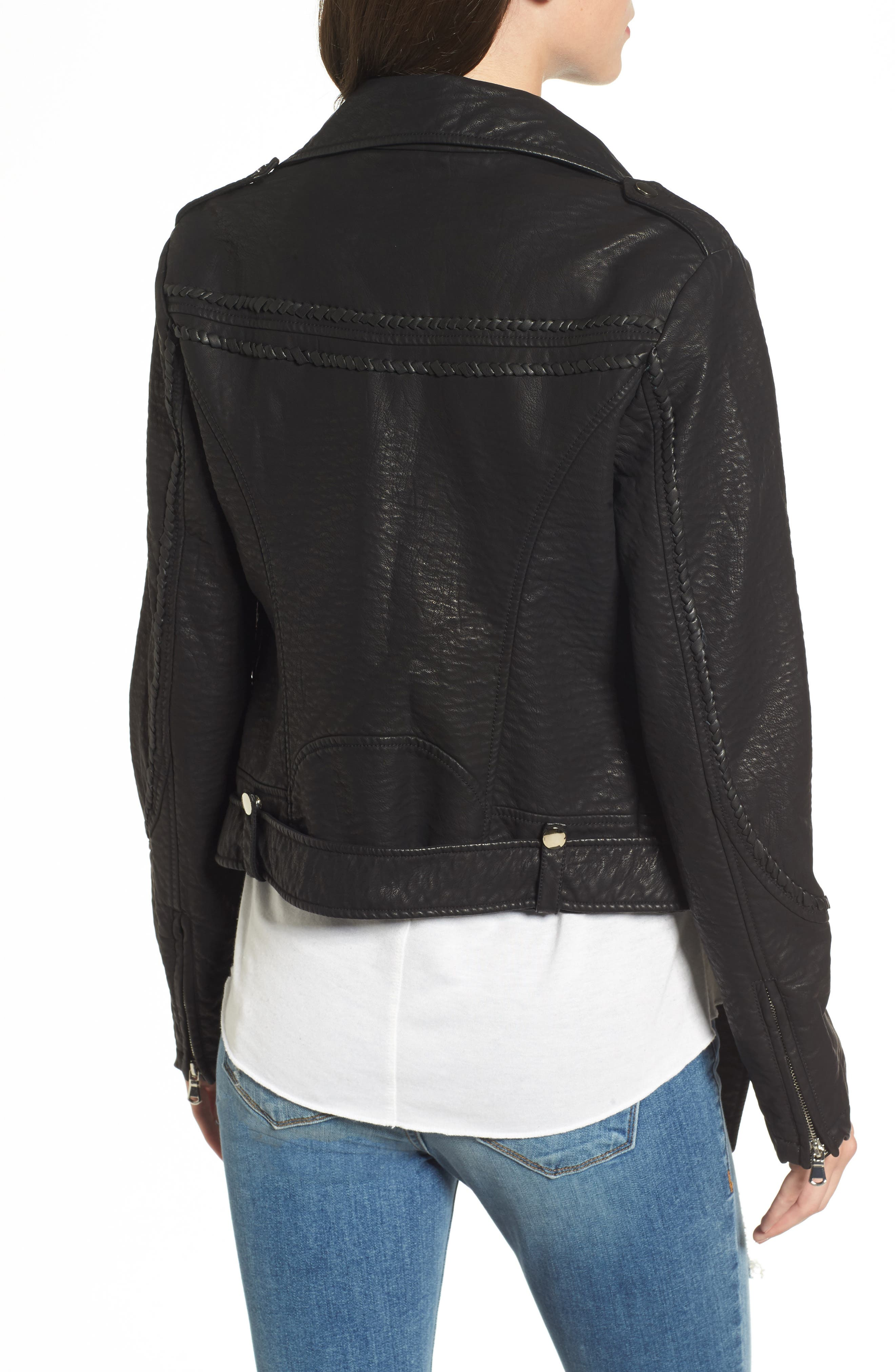 Furthermore Faux Leather Jacket,                             Alternate thumbnail 3, color,