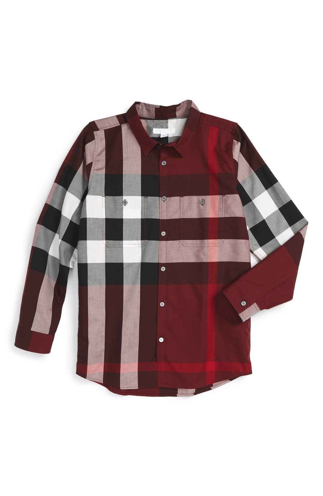'Mini Camber' Check Long Sleeve Shirt,                             Main thumbnail 4, color,