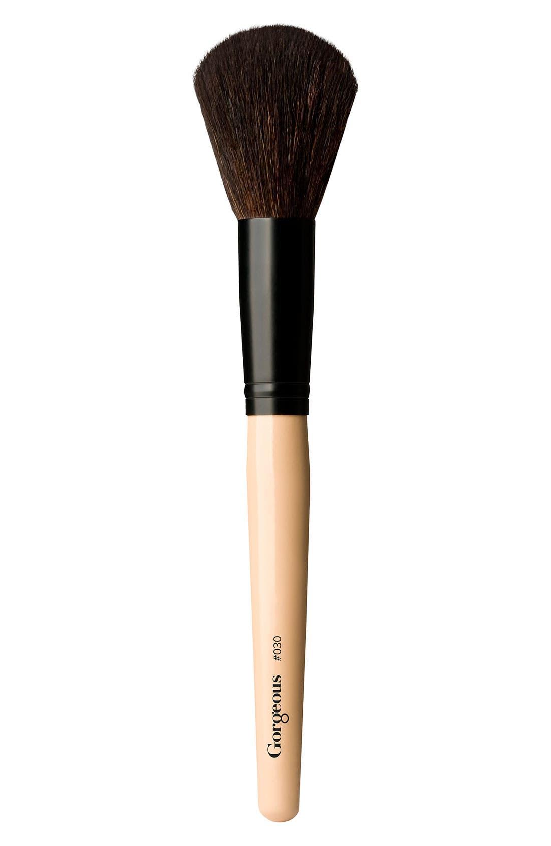 '030' Large Powder Brush,                             Main thumbnail 1, color,                             NO COLOR