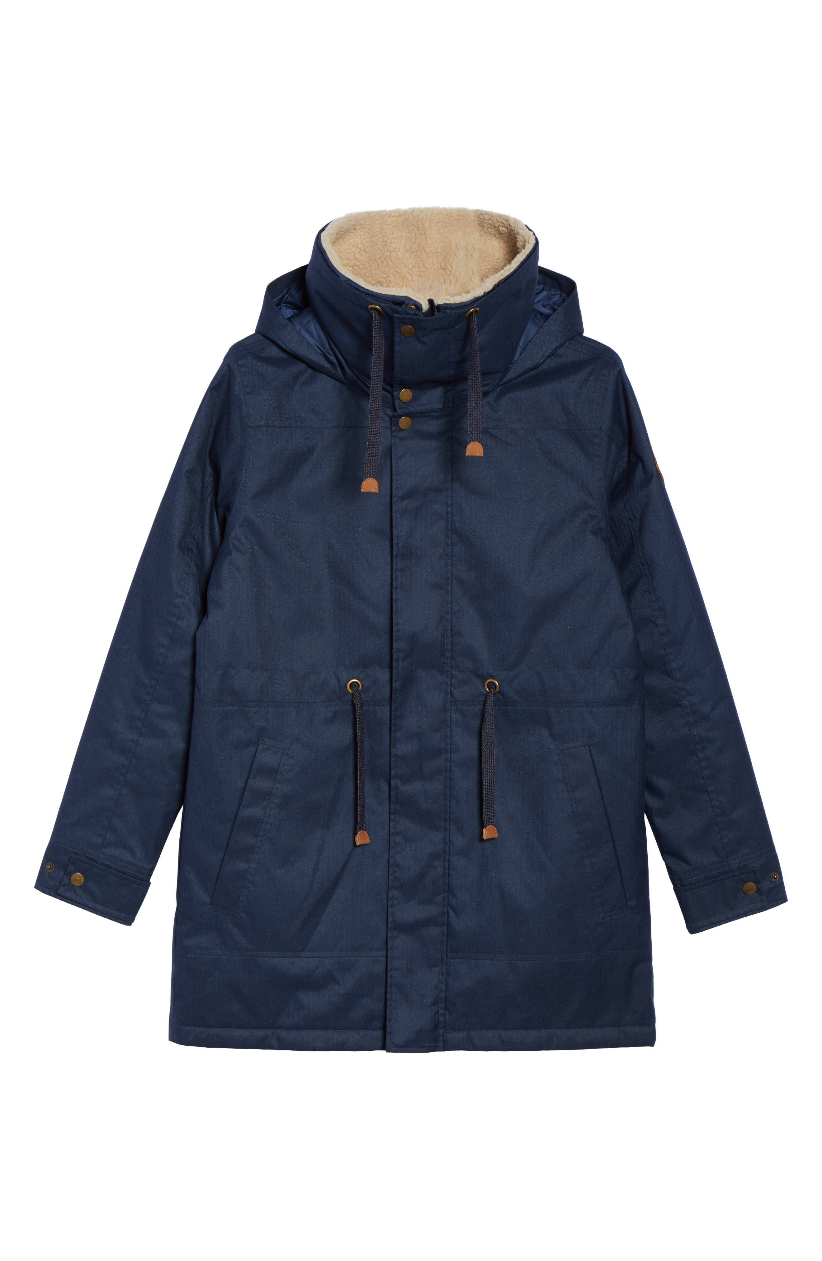 Hazelton Water-Resistant Hooded Jacket with Removable Fleece Lining,                             Alternate thumbnail 6, color,                             400