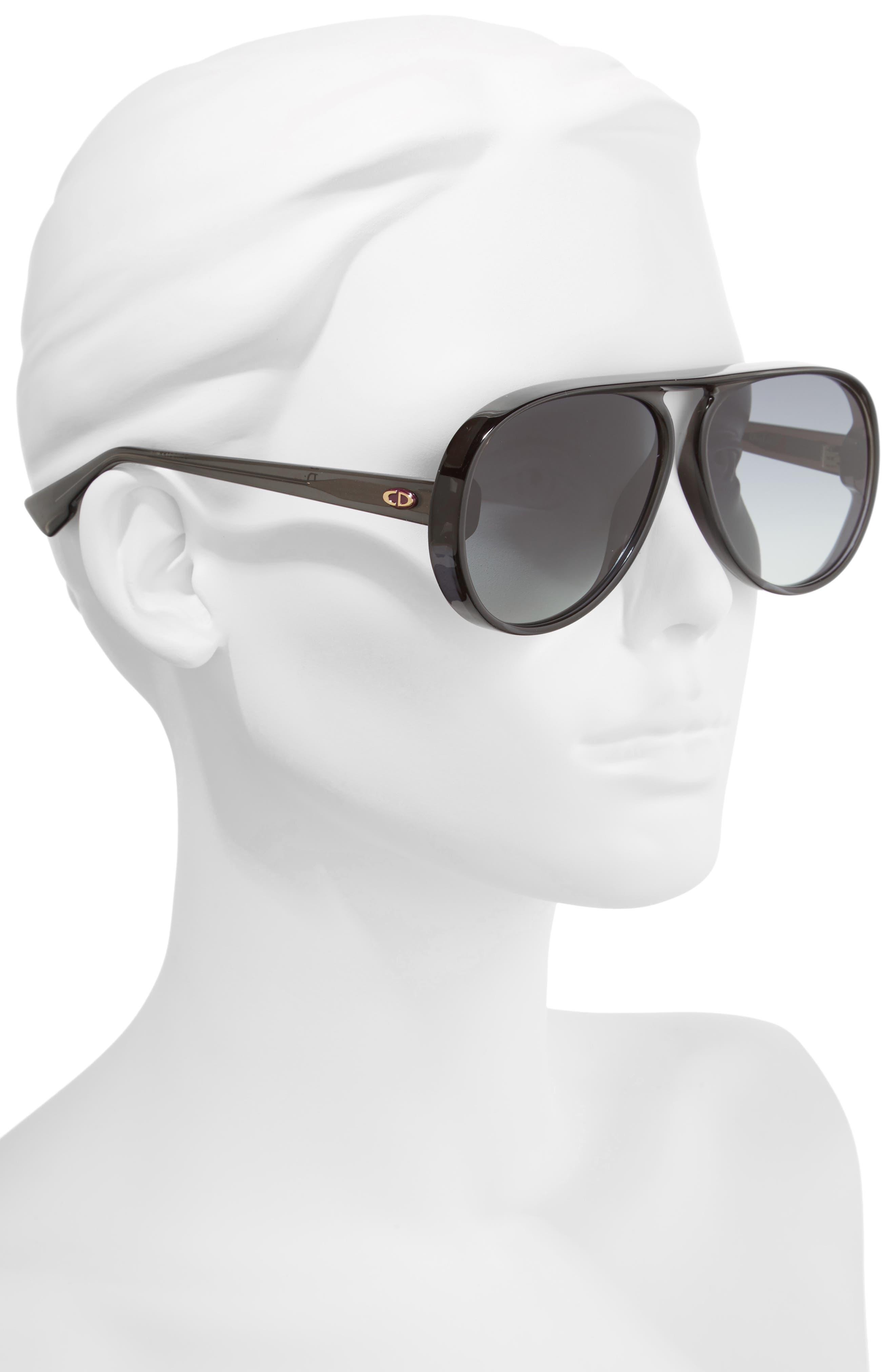 Lia 62mm Oversize Aviator Sunglasses,                             Alternate thumbnail 2, color,                             020