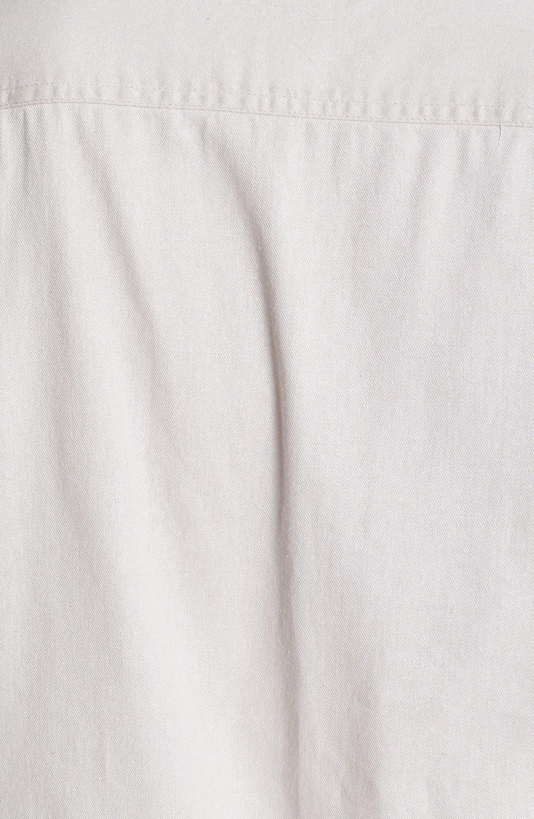 TOPMAN,                             Contrast Trim Short Sleeve Cotton Shirt,                             Alternate thumbnail 6, color,                             020