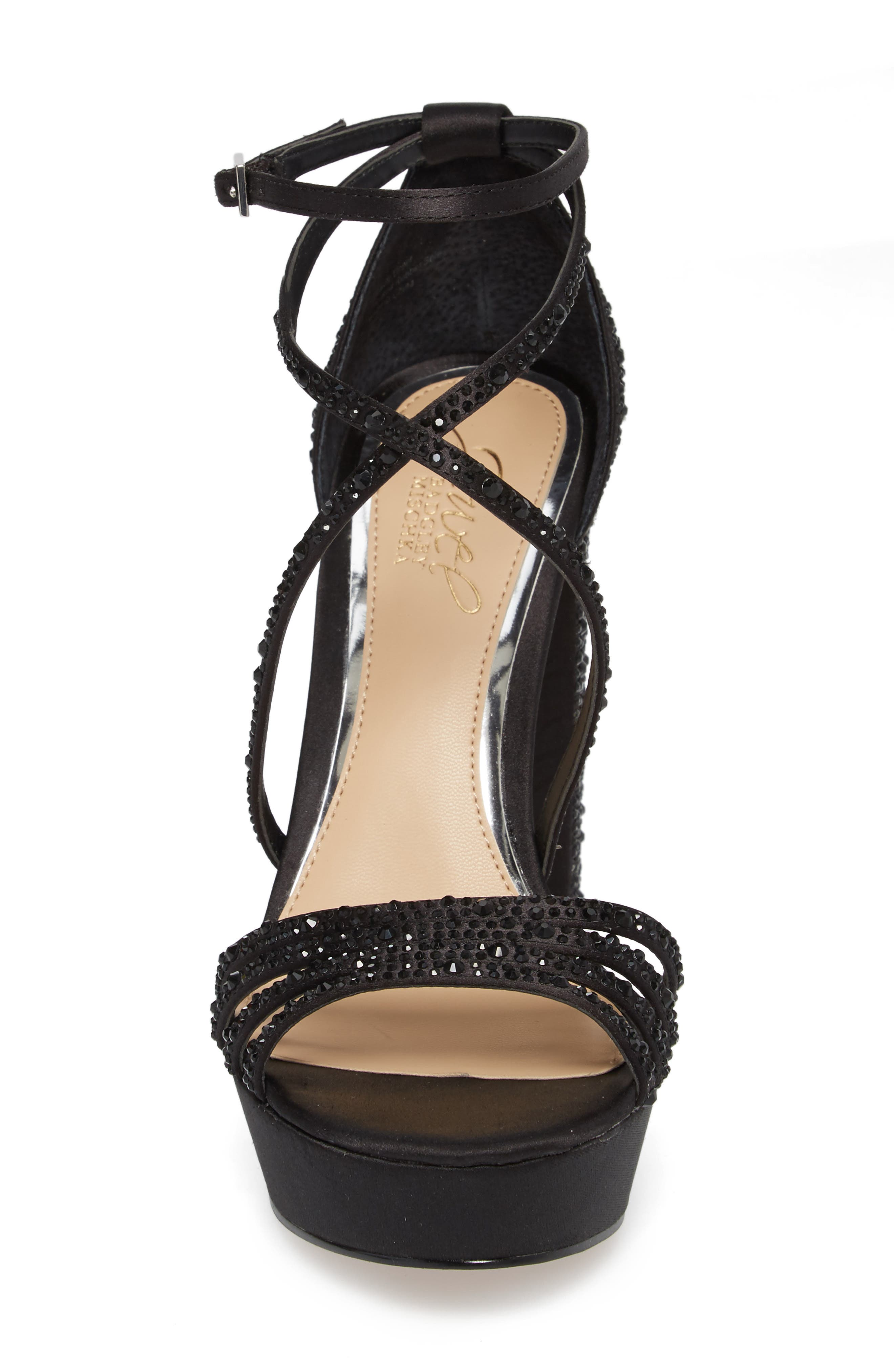 Tarah Crystal Embellished Platform Sandal,                             Alternate thumbnail 10, color,