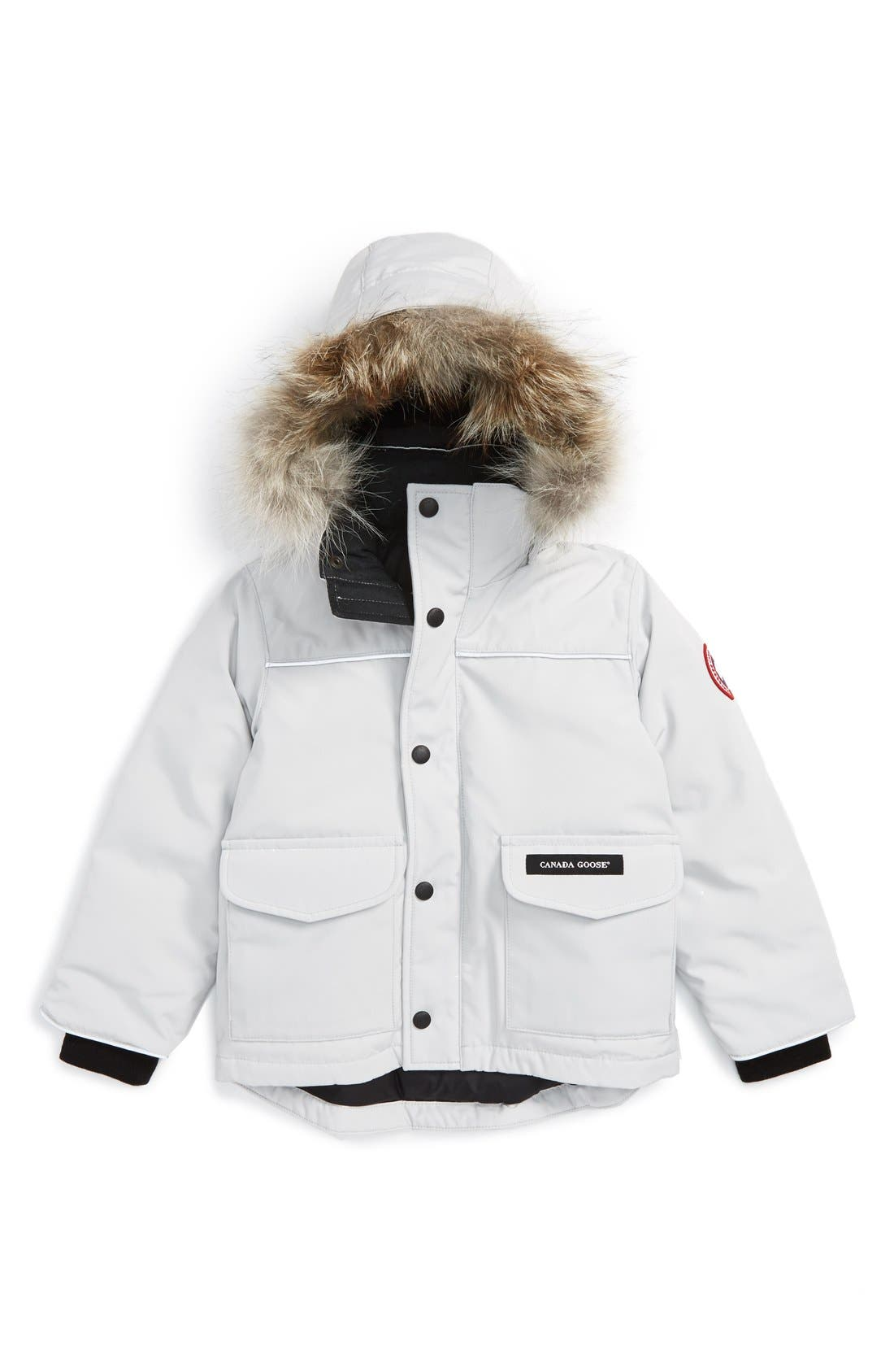 'Lynx' Down Parka with Genuine Coyote Fur Trim,                             Main thumbnail 1, color,