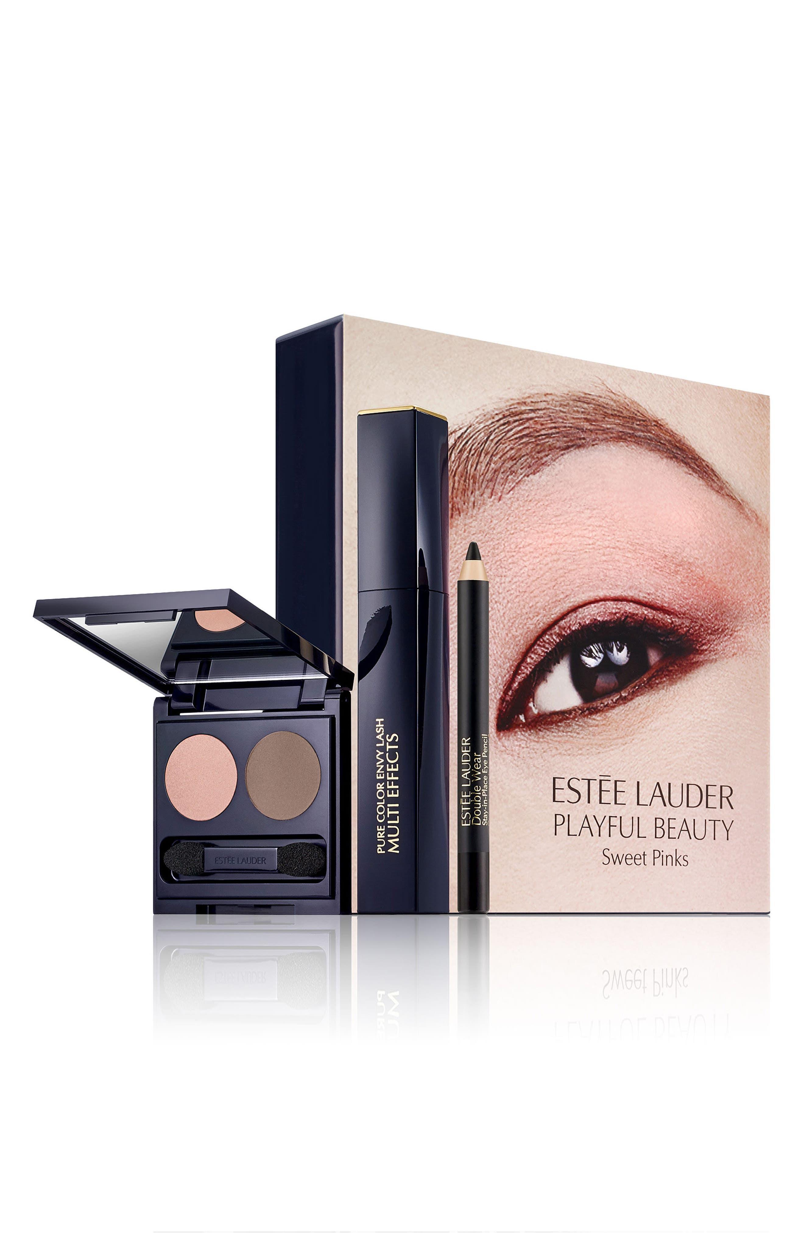 Sweet Pink Eyeshadow, Mascara & Liner Set,                             Main thumbnail 1, color,                             000