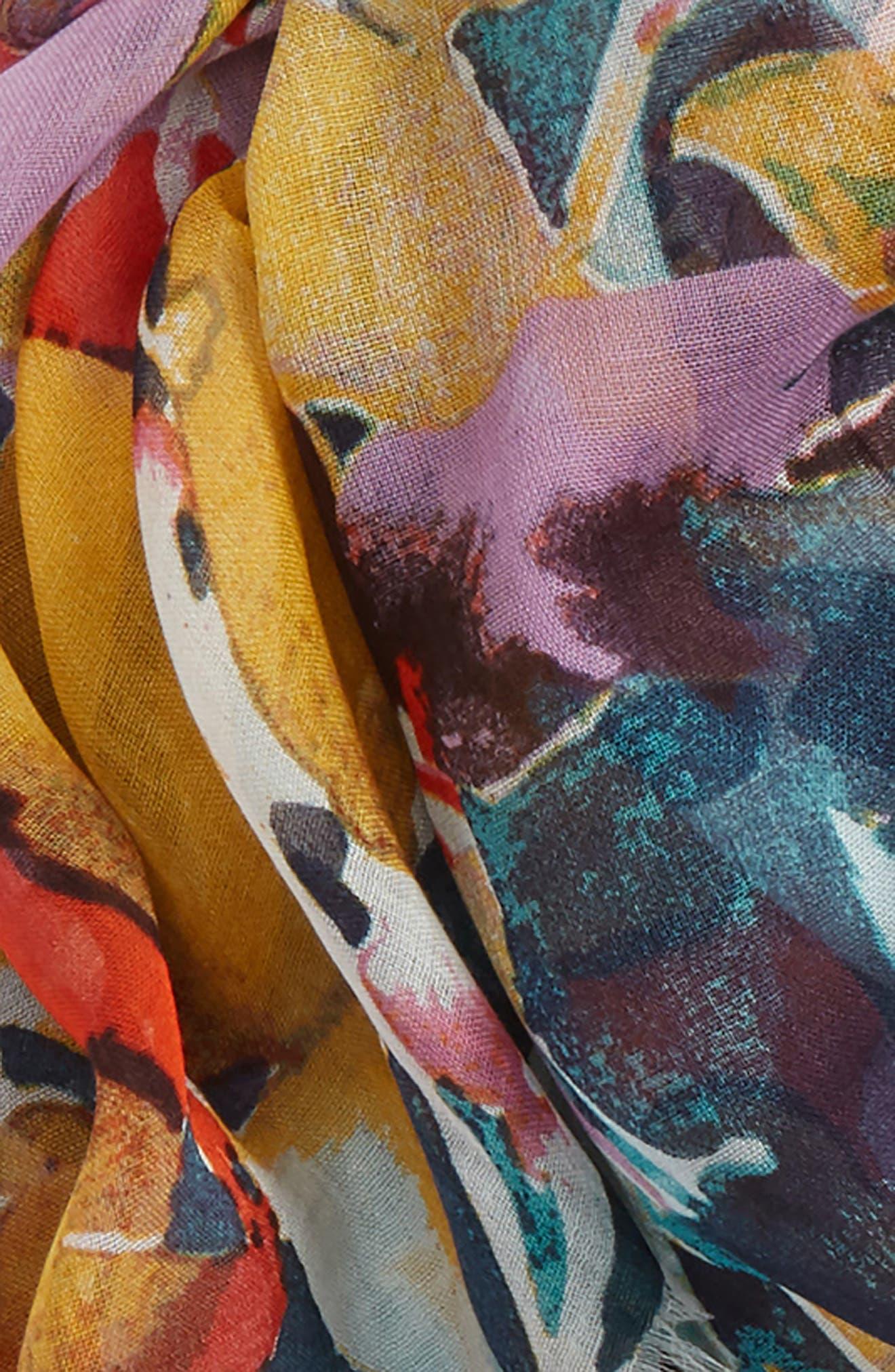 Print Modal & Silk Scarf,                             Alternate thumbnail 51, color,