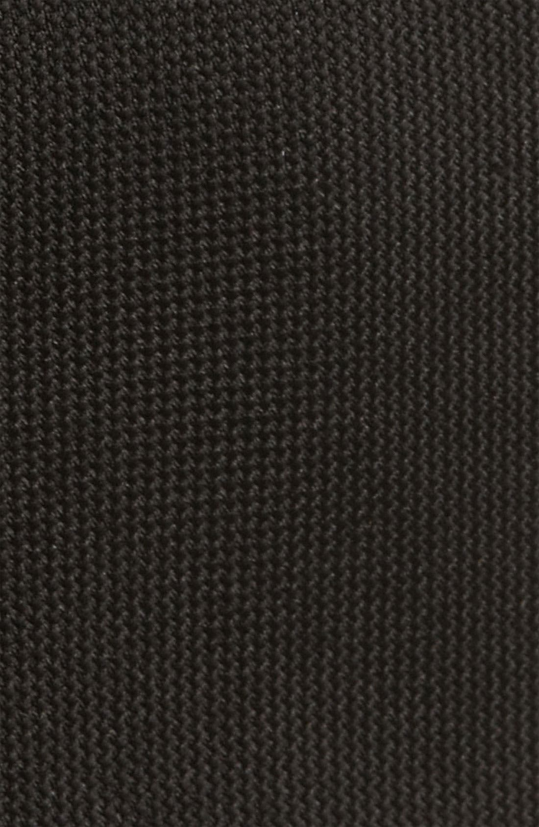 Woven Silk Tie,                             Alternate thumbnail 2, color,                             BLACK
