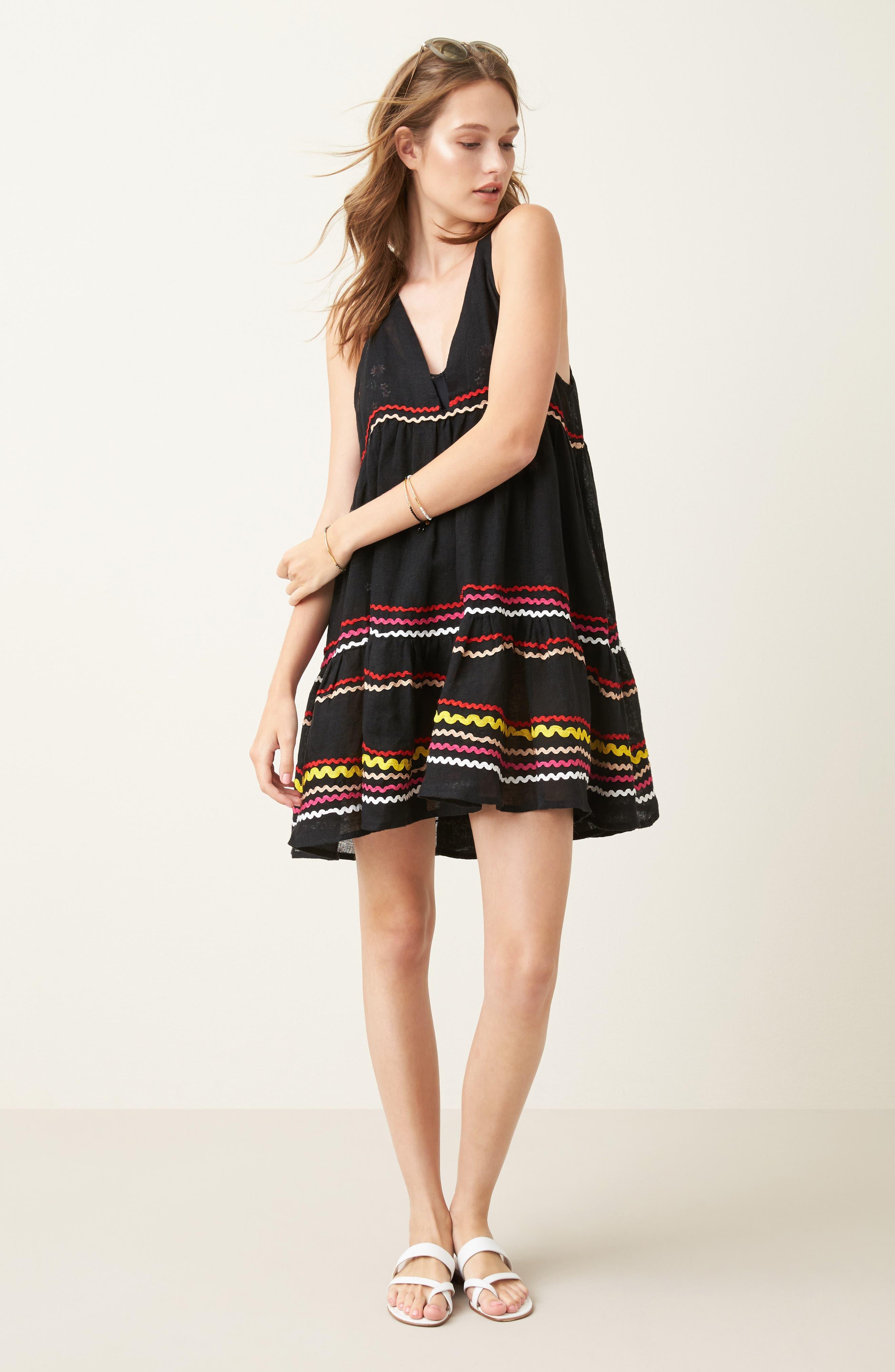 Mira Cover-Up Dress,                             Alternate thumbnail 7, color,                             001