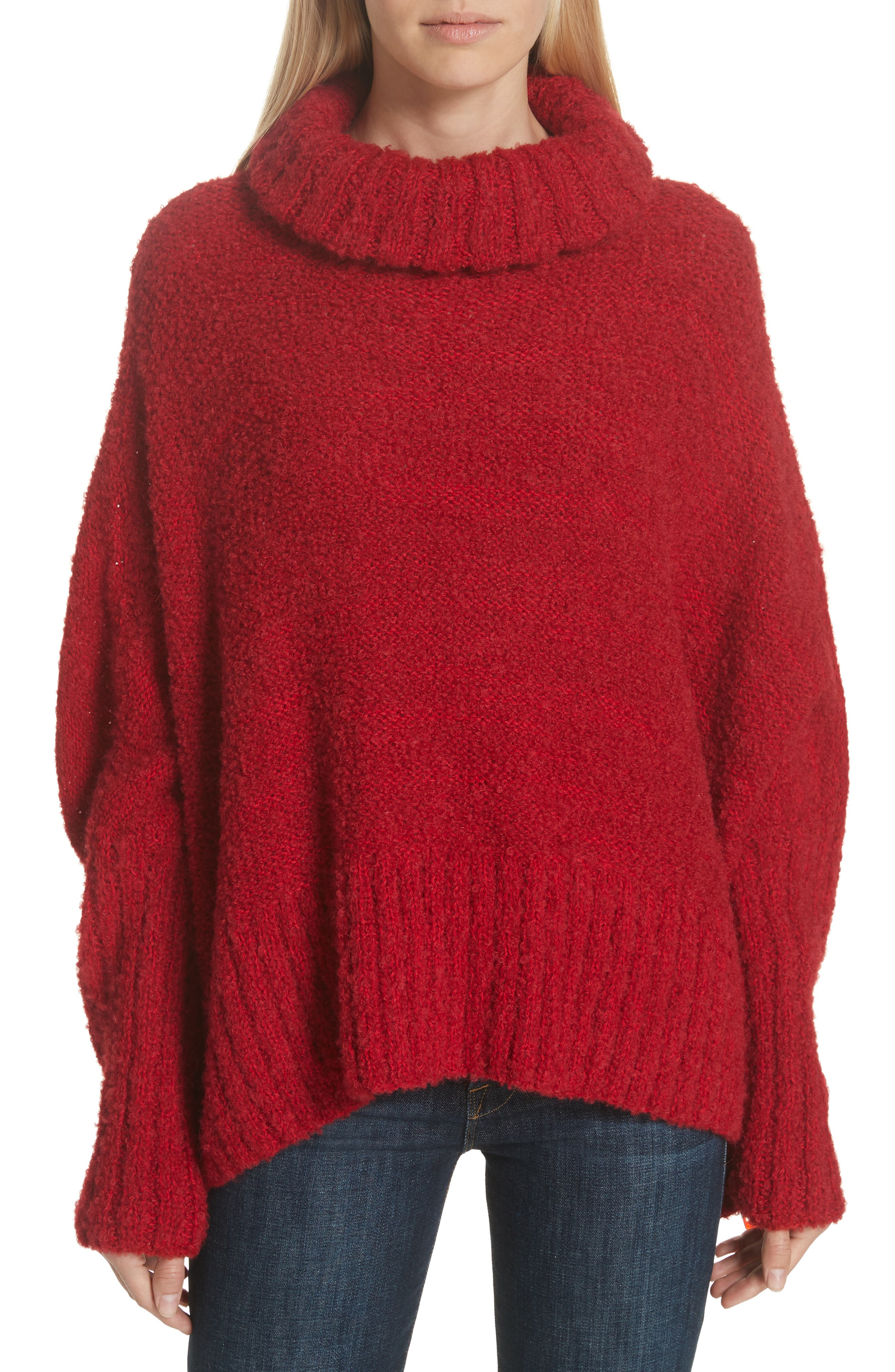 Alpaca & Wool Blend Swing Turtleneck,                         Main,                         color, 600
