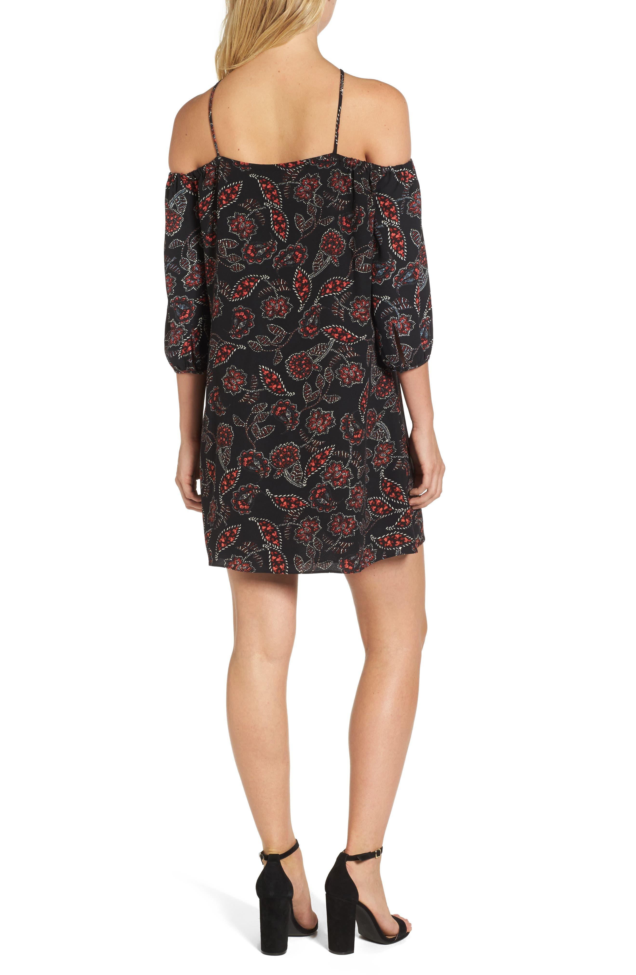 Ellinor Cold Shoulder Dress,                             Alternate thumbnail 2, color,                             001