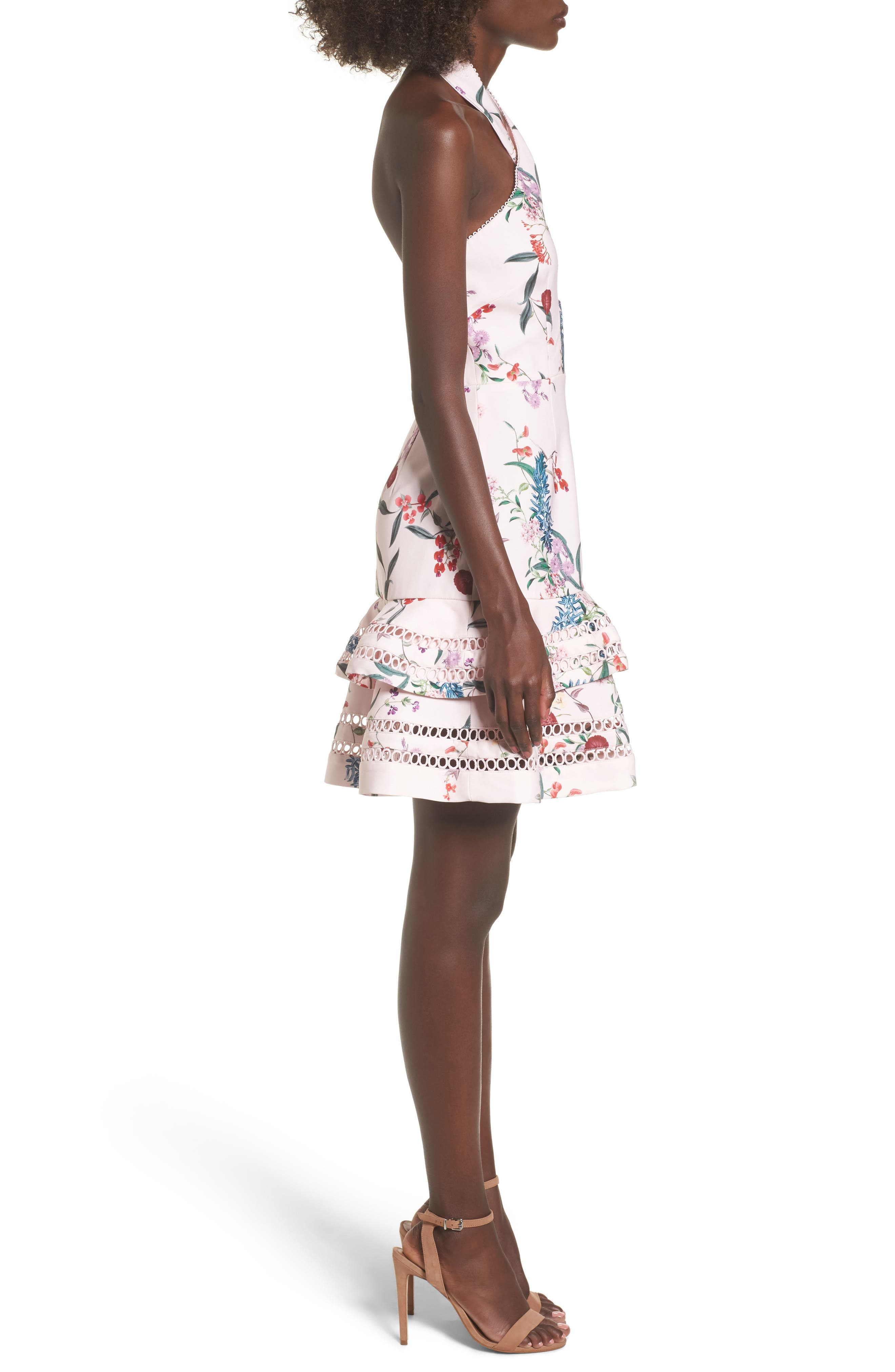 Indulge Halter A-Line Dress,                             Alternate thumbnail 3, color,                             650