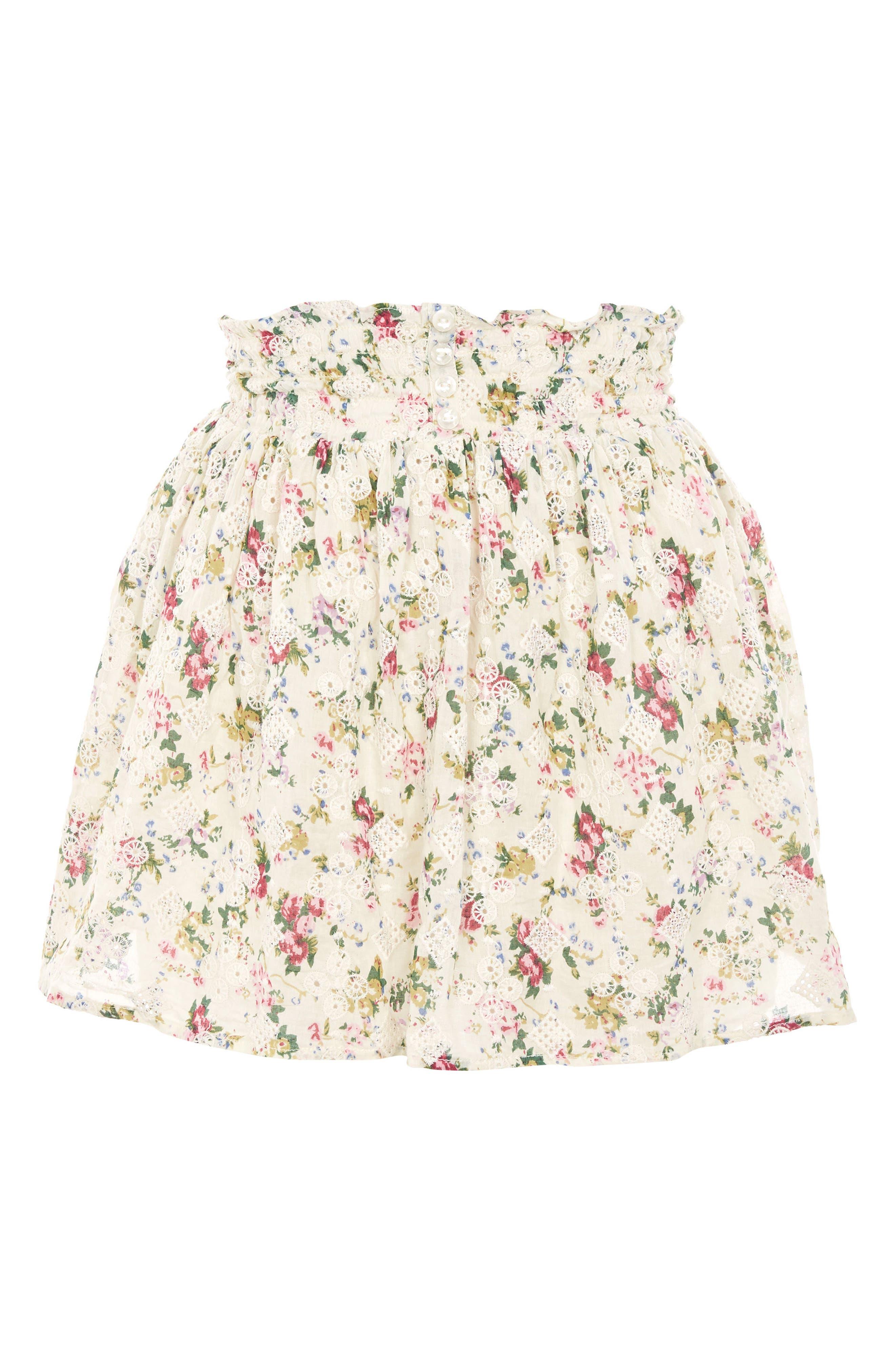 Broderie Print Miniskirt,                             Alternate thumbnail 3, color,                             900