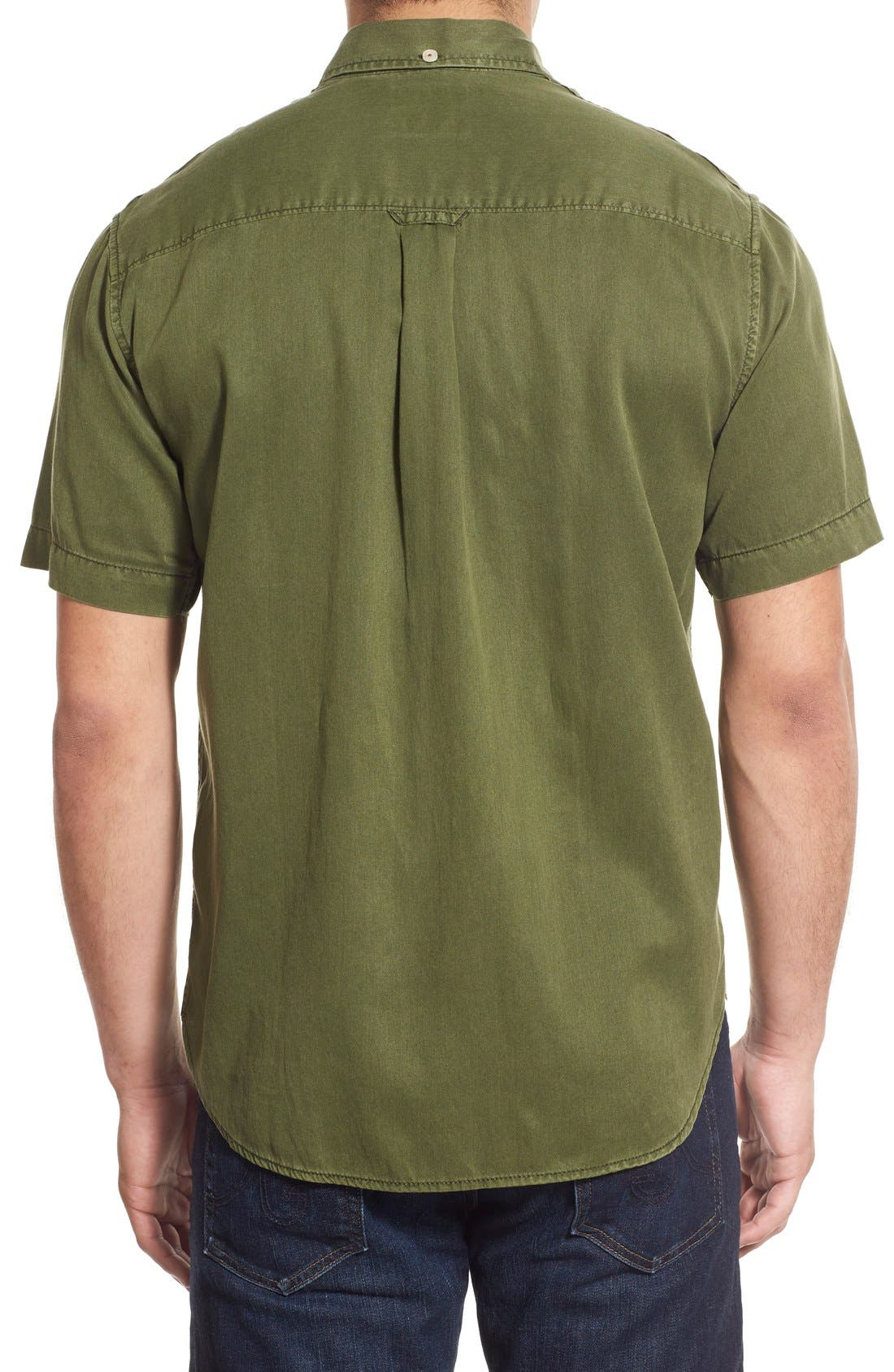 'New Twilly' Island Modern Fit Short Sleeve Twill Shirt,                             Alternate thumbnail 33, color,