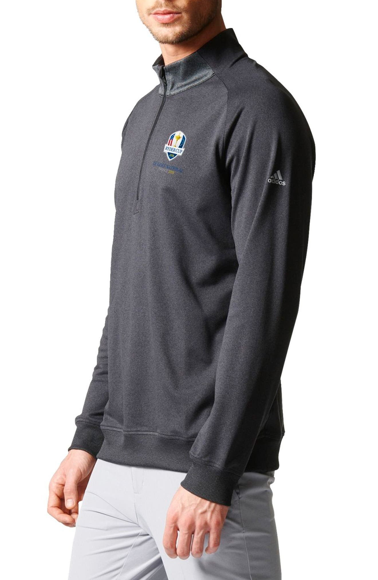 Quarter Zip Gold Pullover,                             Alternate thumbnail 3, color,                             015