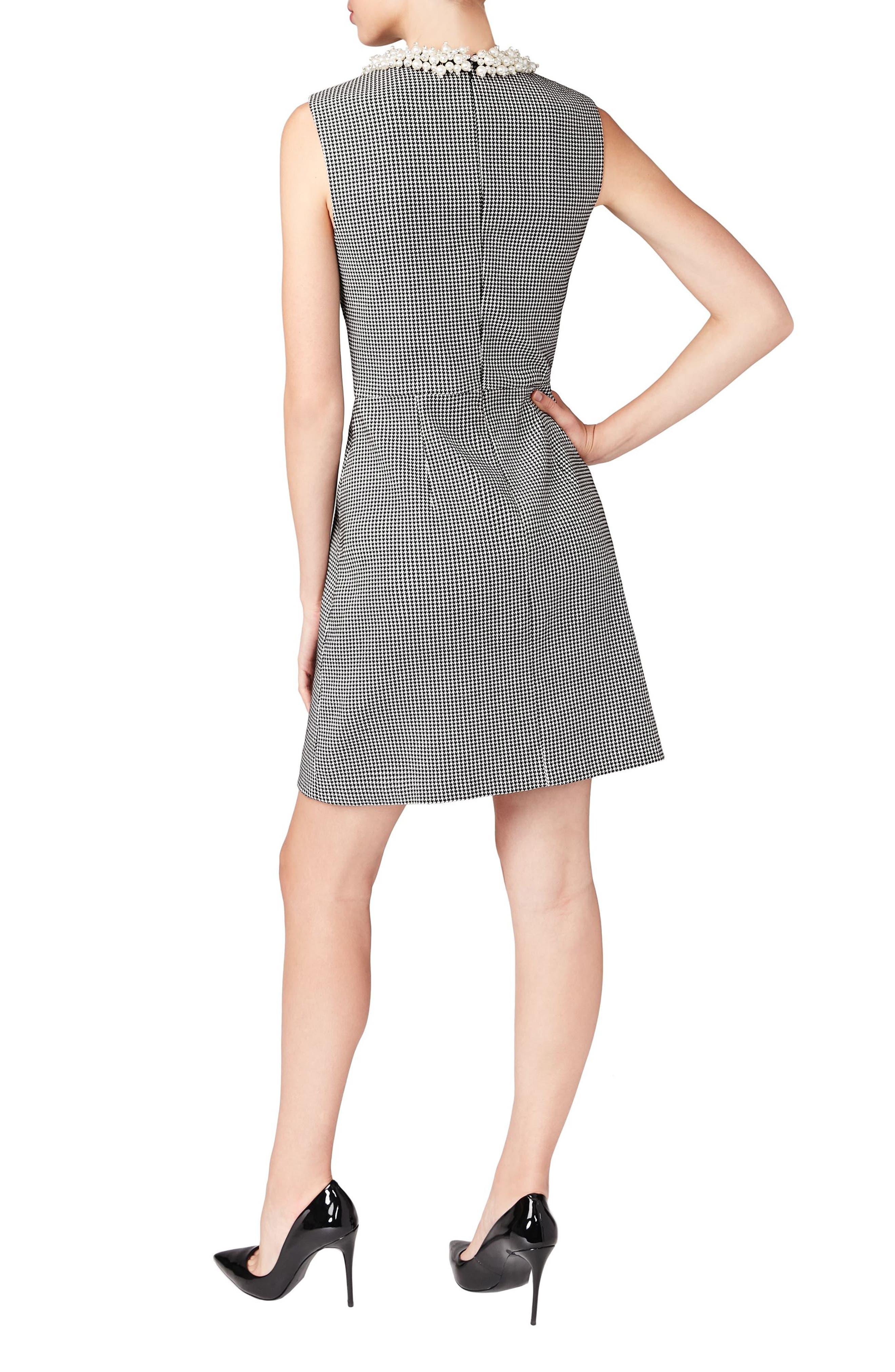 Embellished Collar Sheath Dress,                             Alternate thumbnail 2, color,                             002