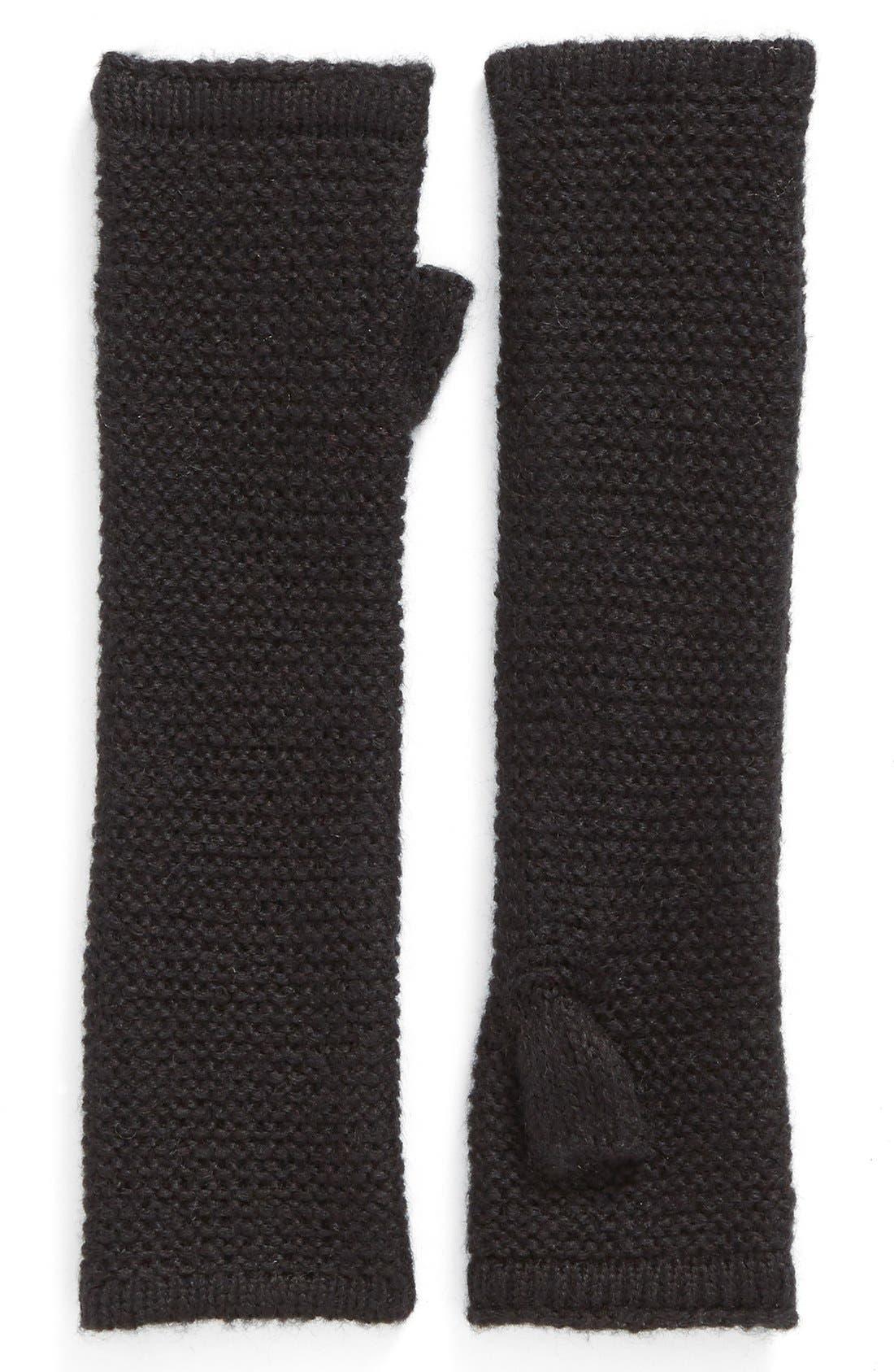 Garter Stitch Fingerless Gloves,                             Main thumbnail 4, color,