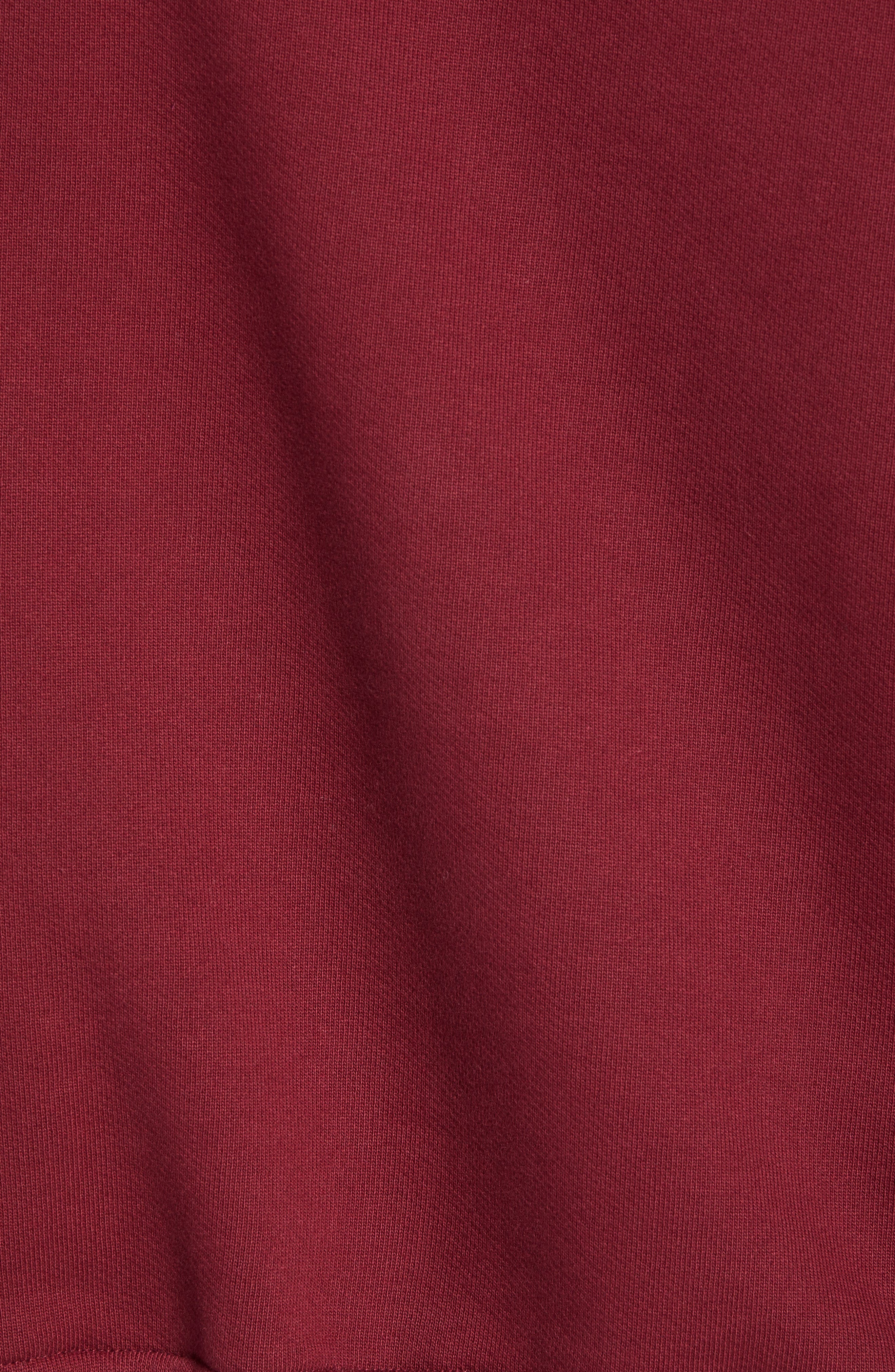 Embroidered Crest Logo Hoodie,                             Alternate thumbnail 5, color,                             CABERNET