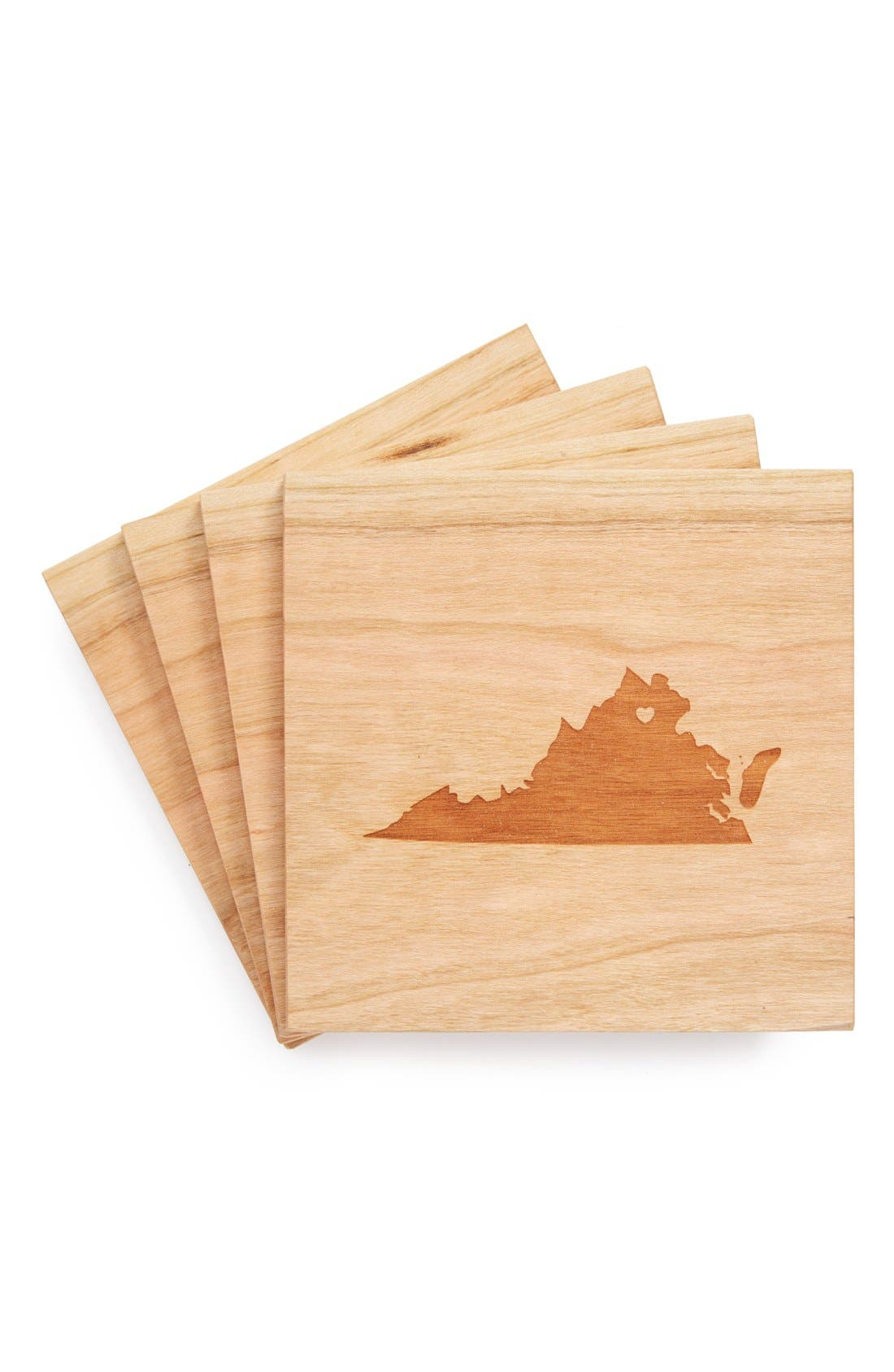 'State Silhouette' Coasters,                             Main thumbnail 46, color,