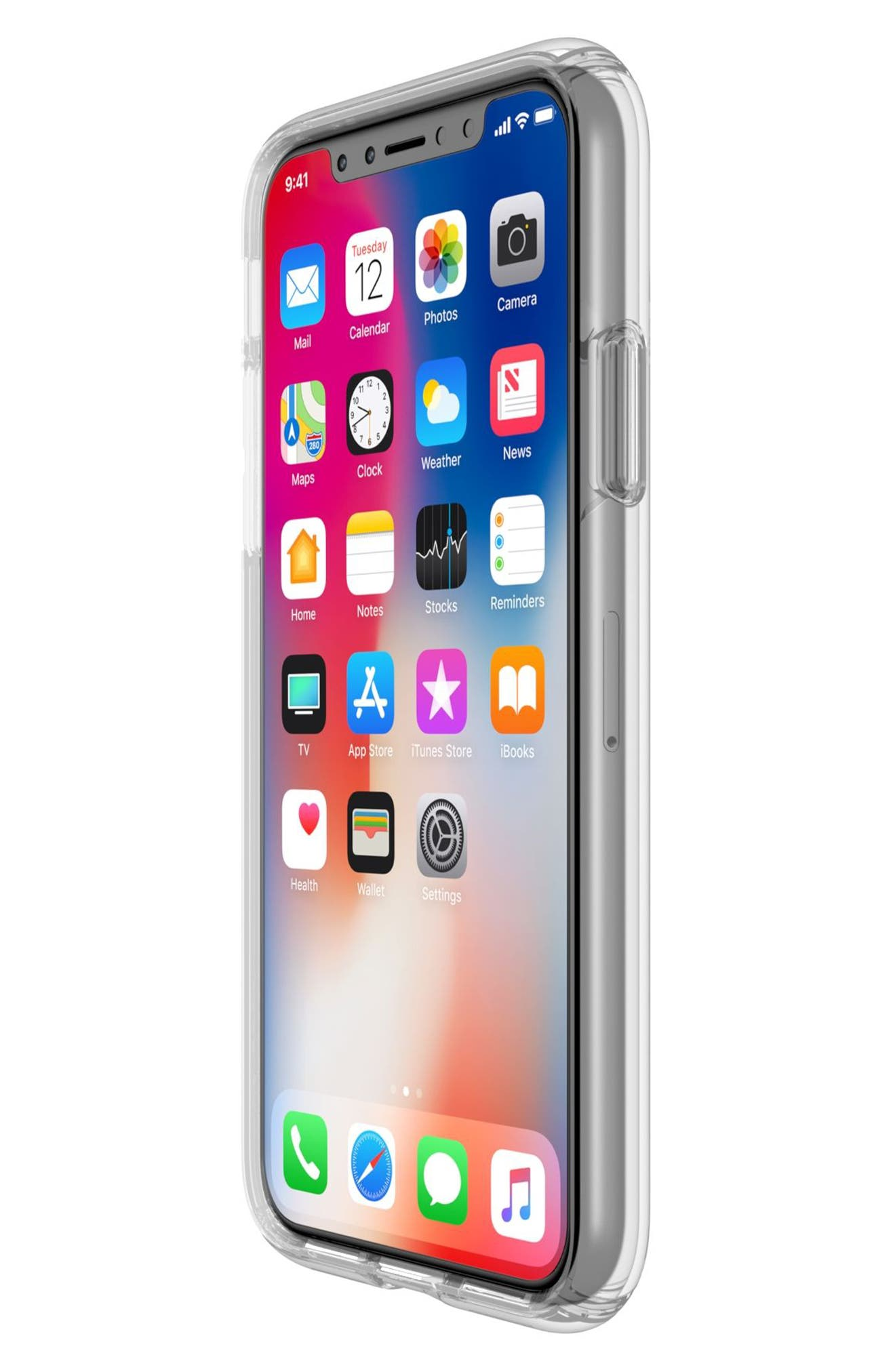 Transparent iPhone X Case,                             Alternate thumbnail 4, color,