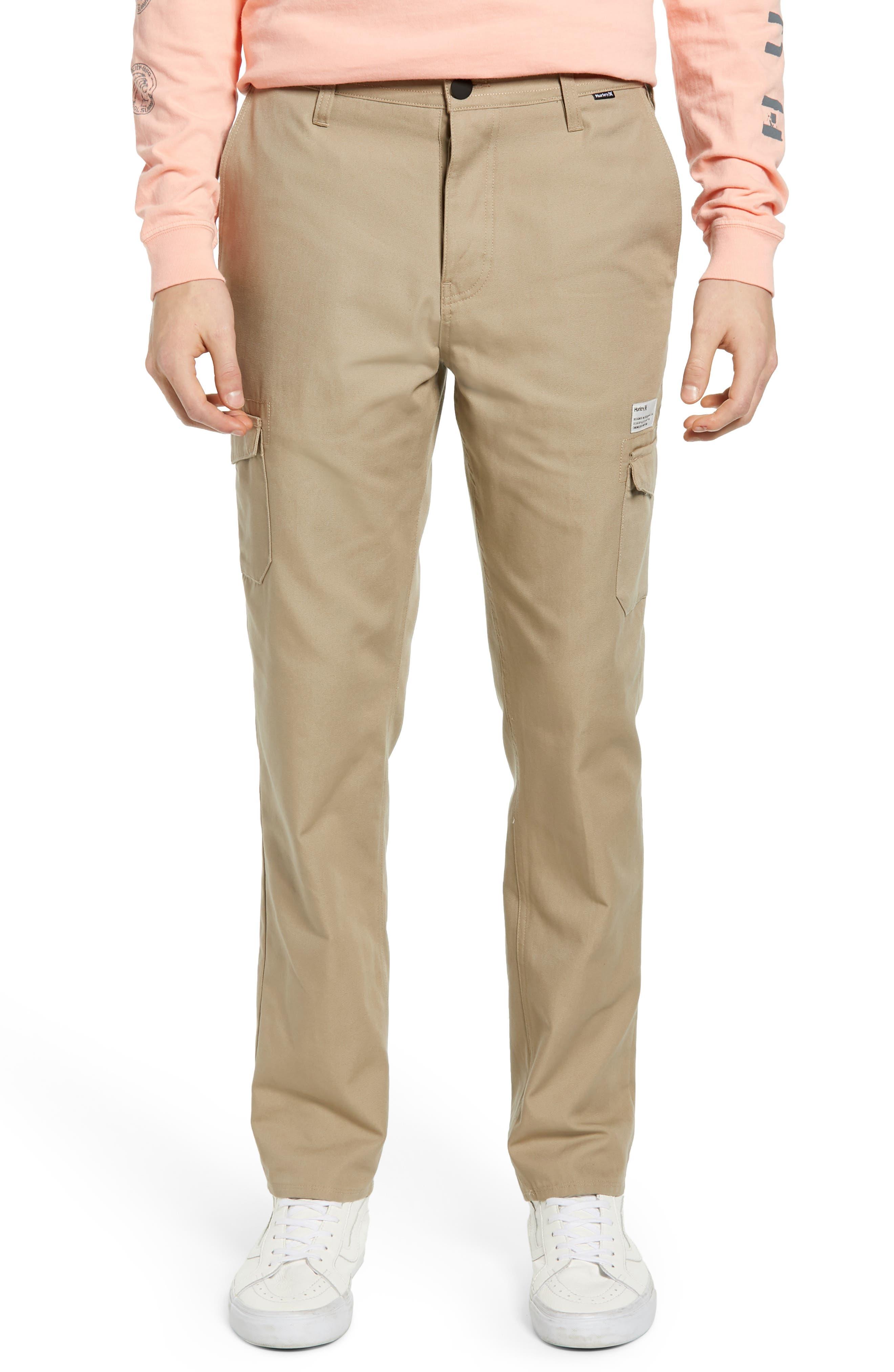 Hurley Troop Slim Fit Cargo Pants, Beige