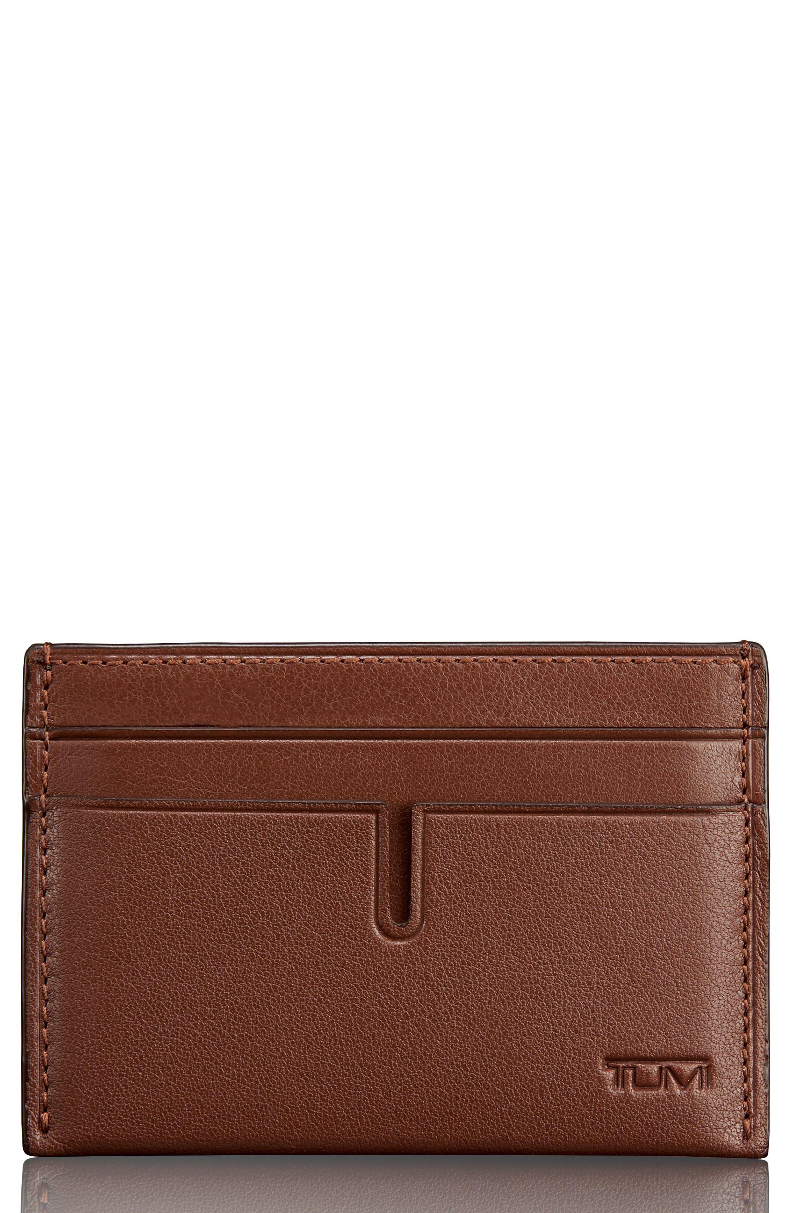 Leather Money Clip Card Case,                             Main thumbnail 2, color,