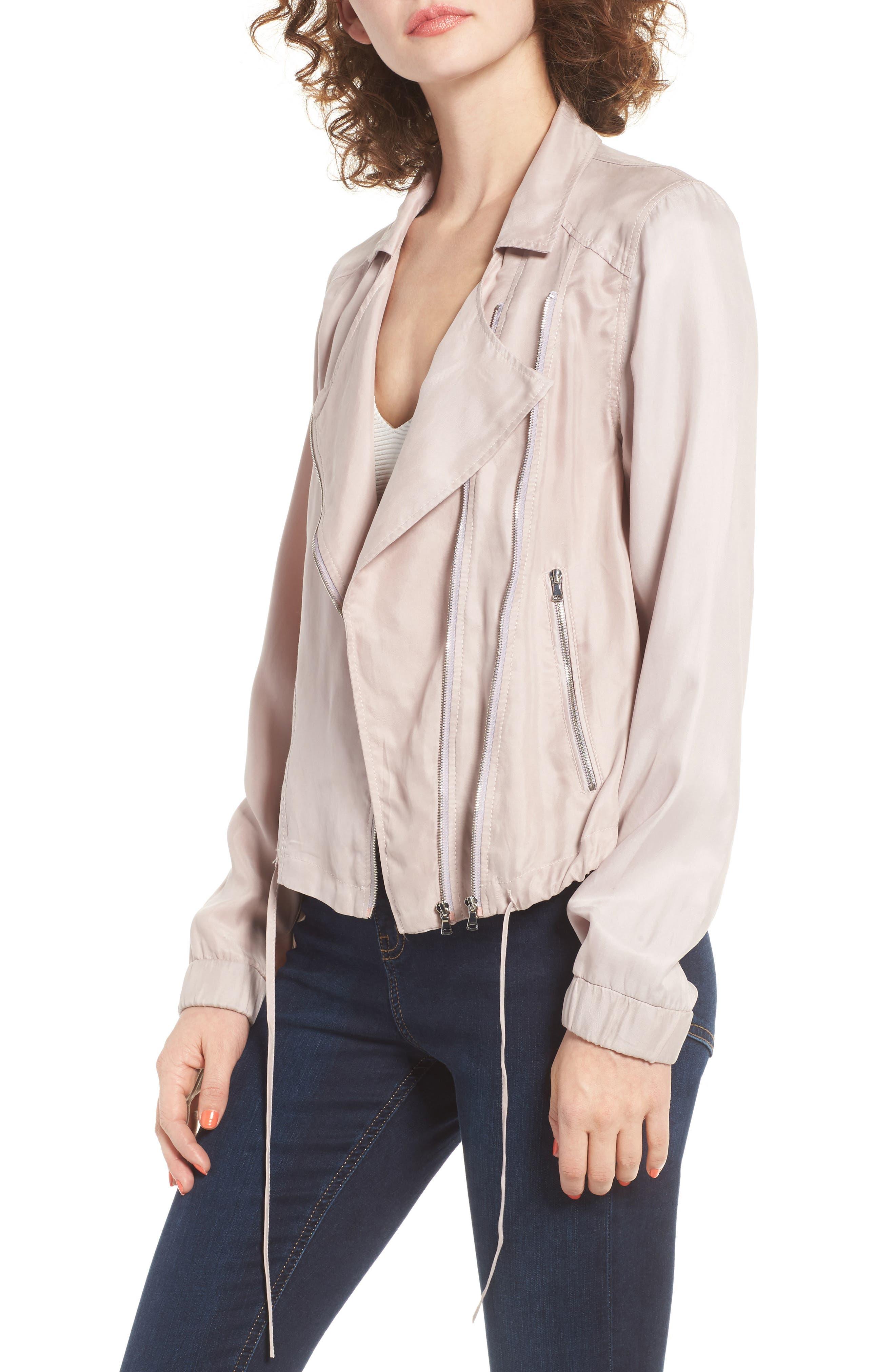 BLANKNYC Tencel Moto Jacket, Main, color, 550