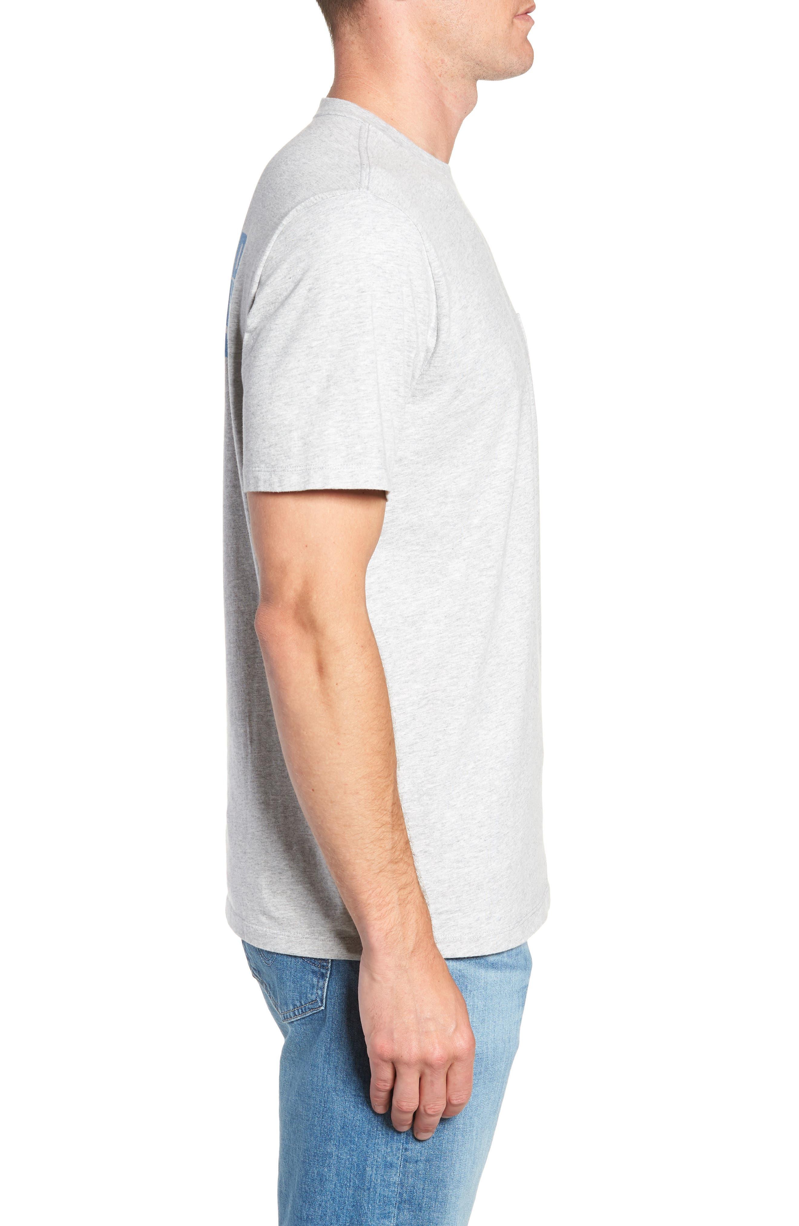 Knockout Sportfisher T-Shirt,                             Alternate thumbnail 3, color,                             GRAY HEATHER