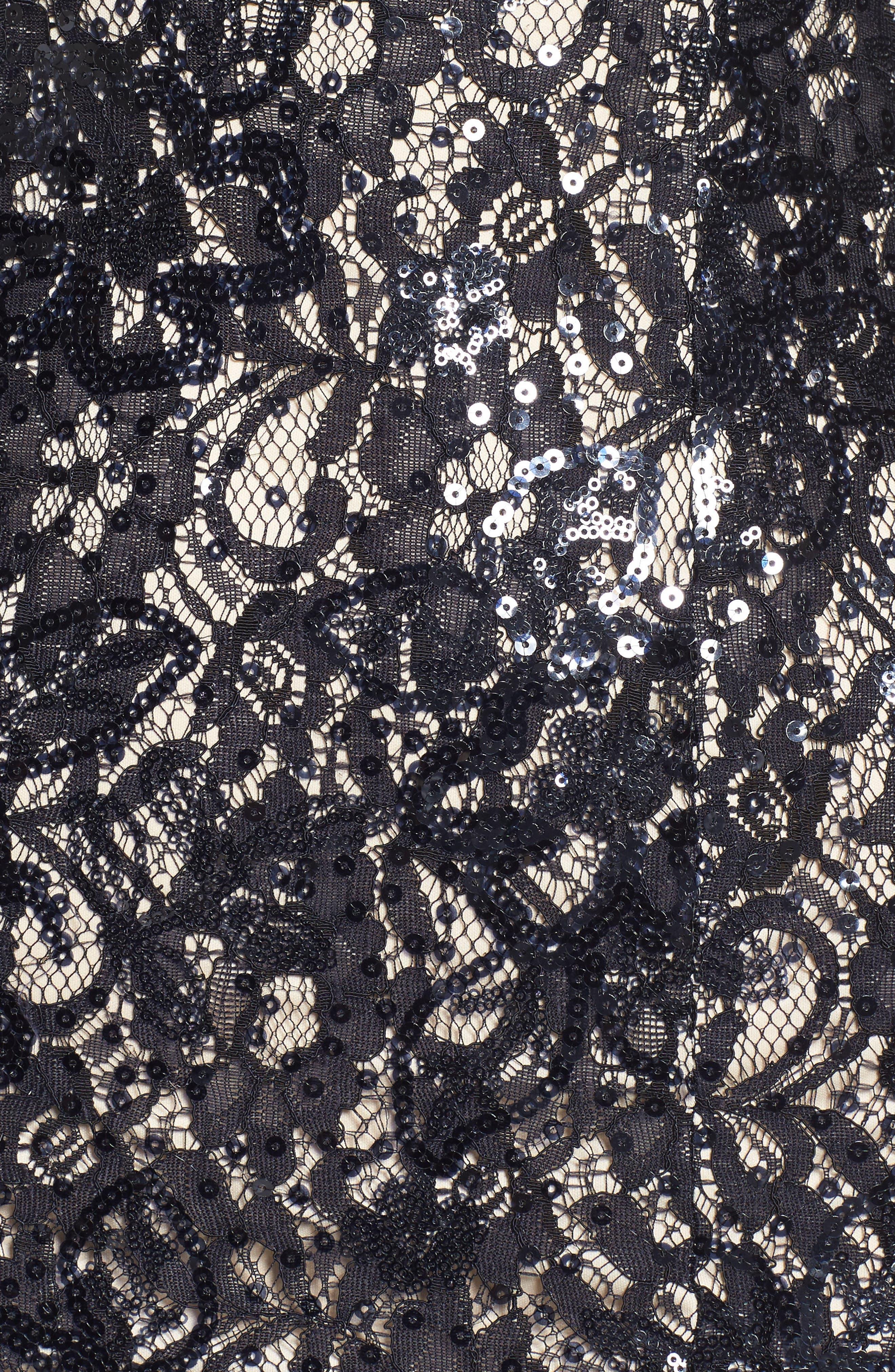 Sequin Lace Gown,                             Alternate thumbnail 5, color,                             410